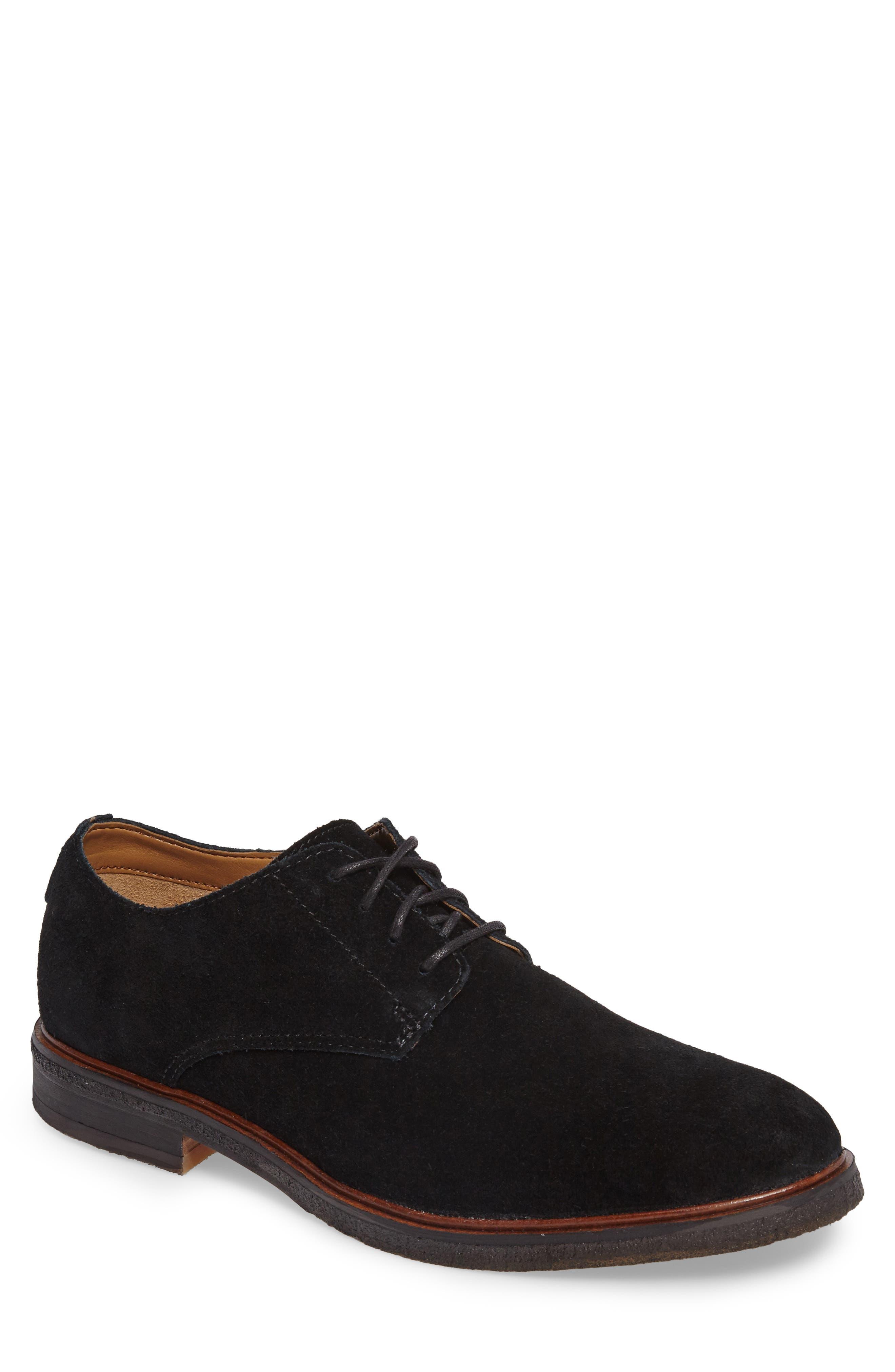 Clarks Clarkdale Moon Buck Shoe,                         Main,                         color, Black Suede