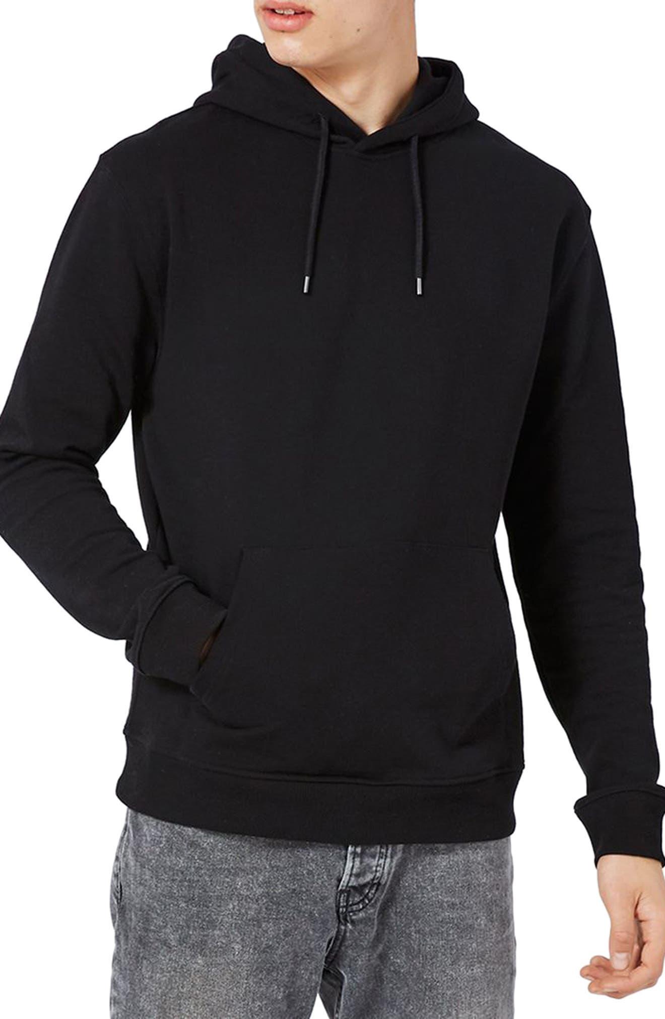 Classic Fit Hoodie,                         Main,                         color, Black