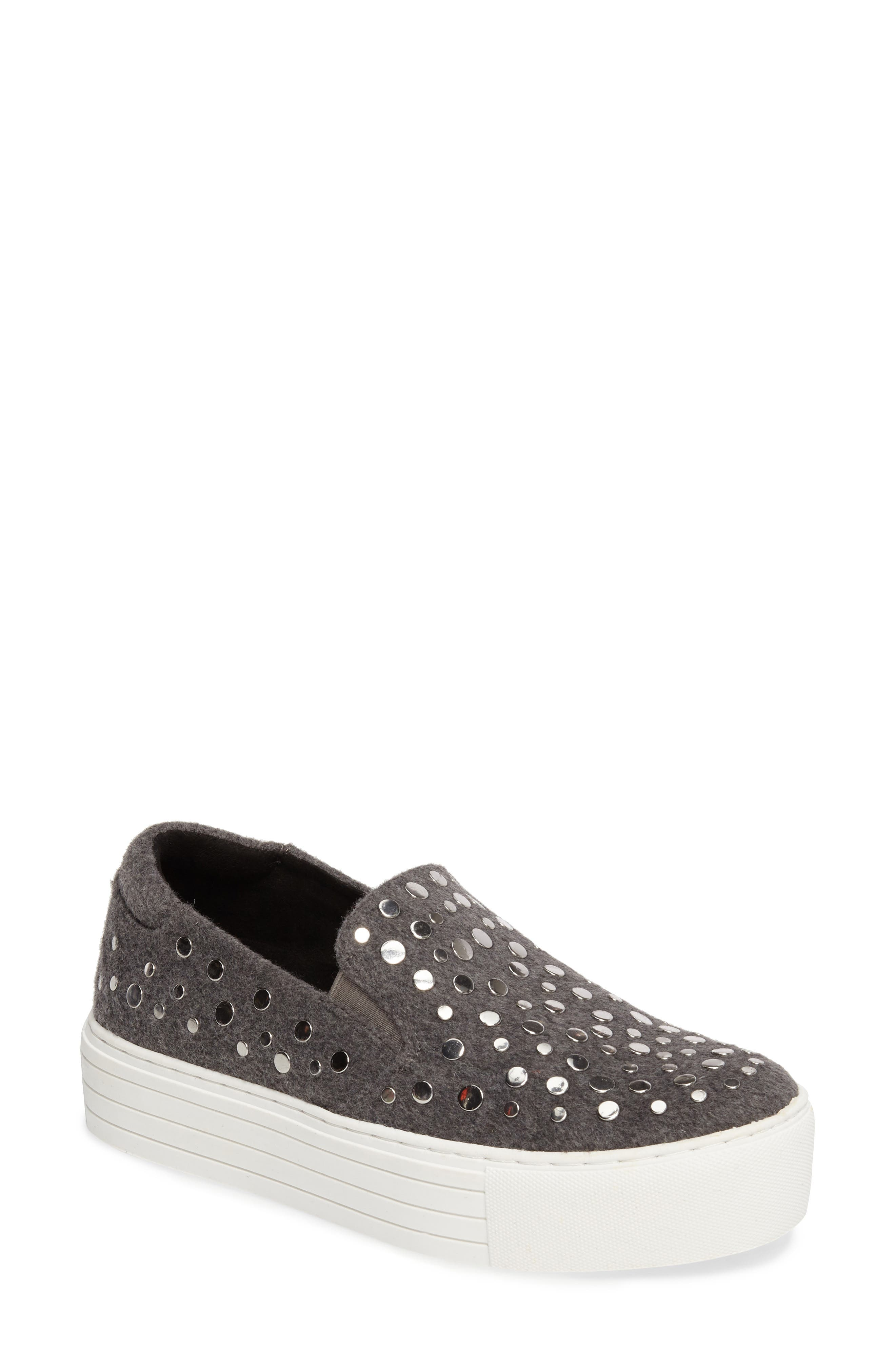 Jeyda Slip-On Sneaker,                             Main thumbnail 1, color,                             Grey Felt Fabric