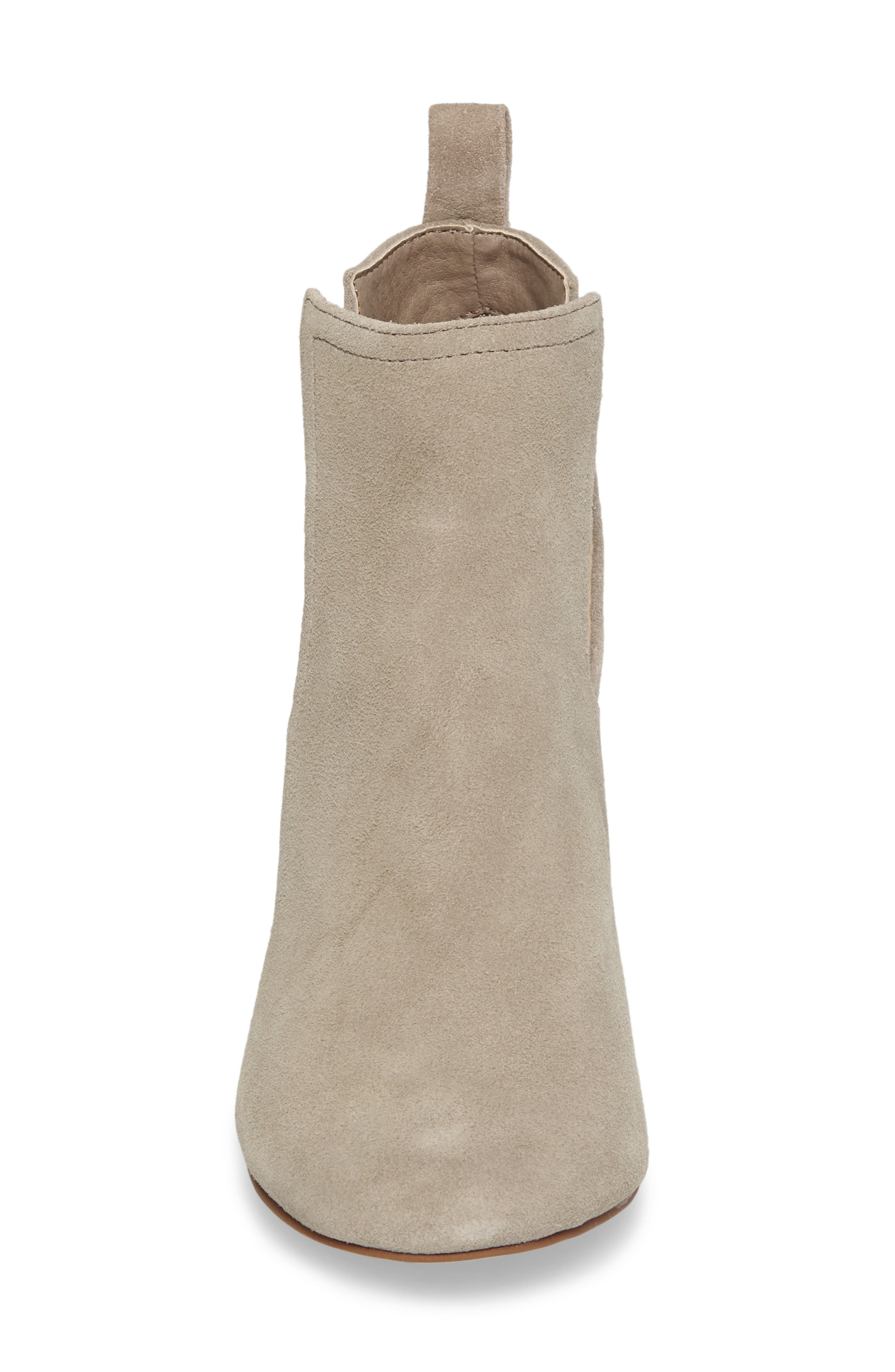 Naomi Cutout Bootie,                             Alternate thumbnail 4, color,                             Taupe Suede
