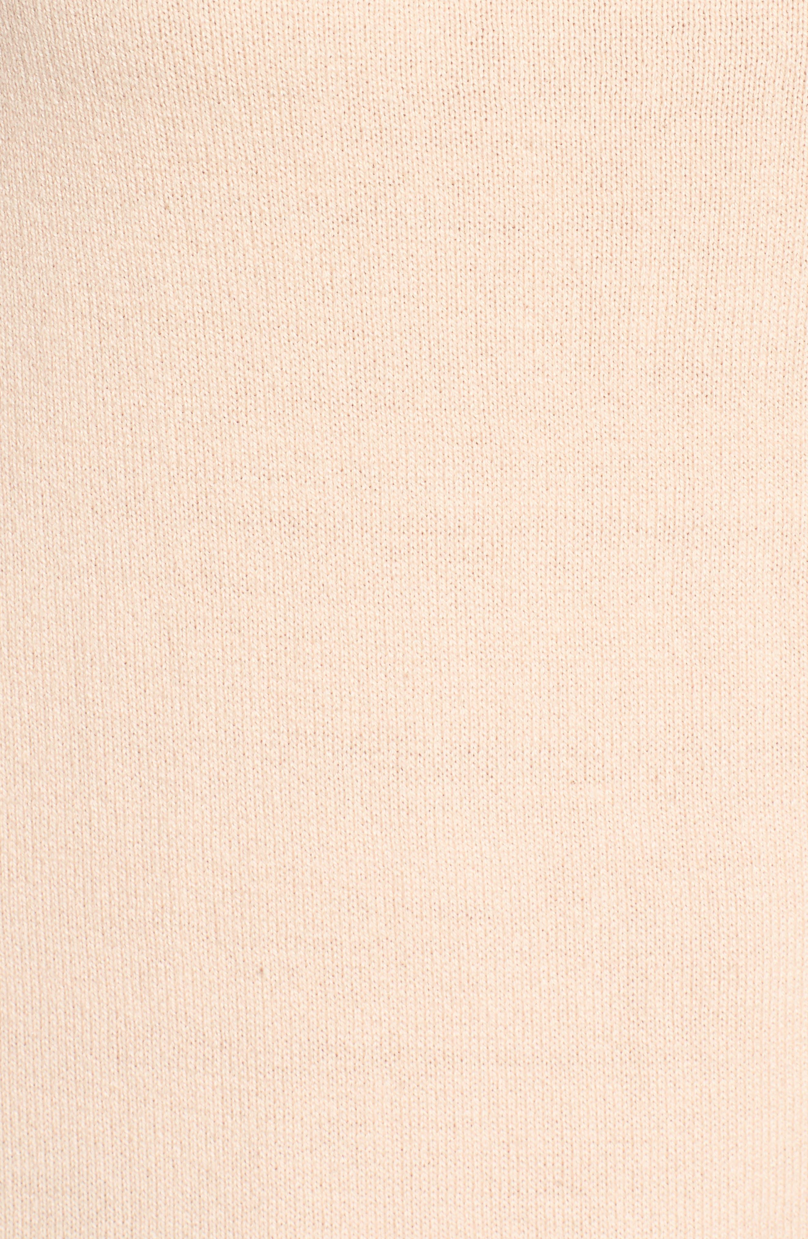 Cowl Neck Sweater,                             Alternate thumbnail 5, color,                             Blush