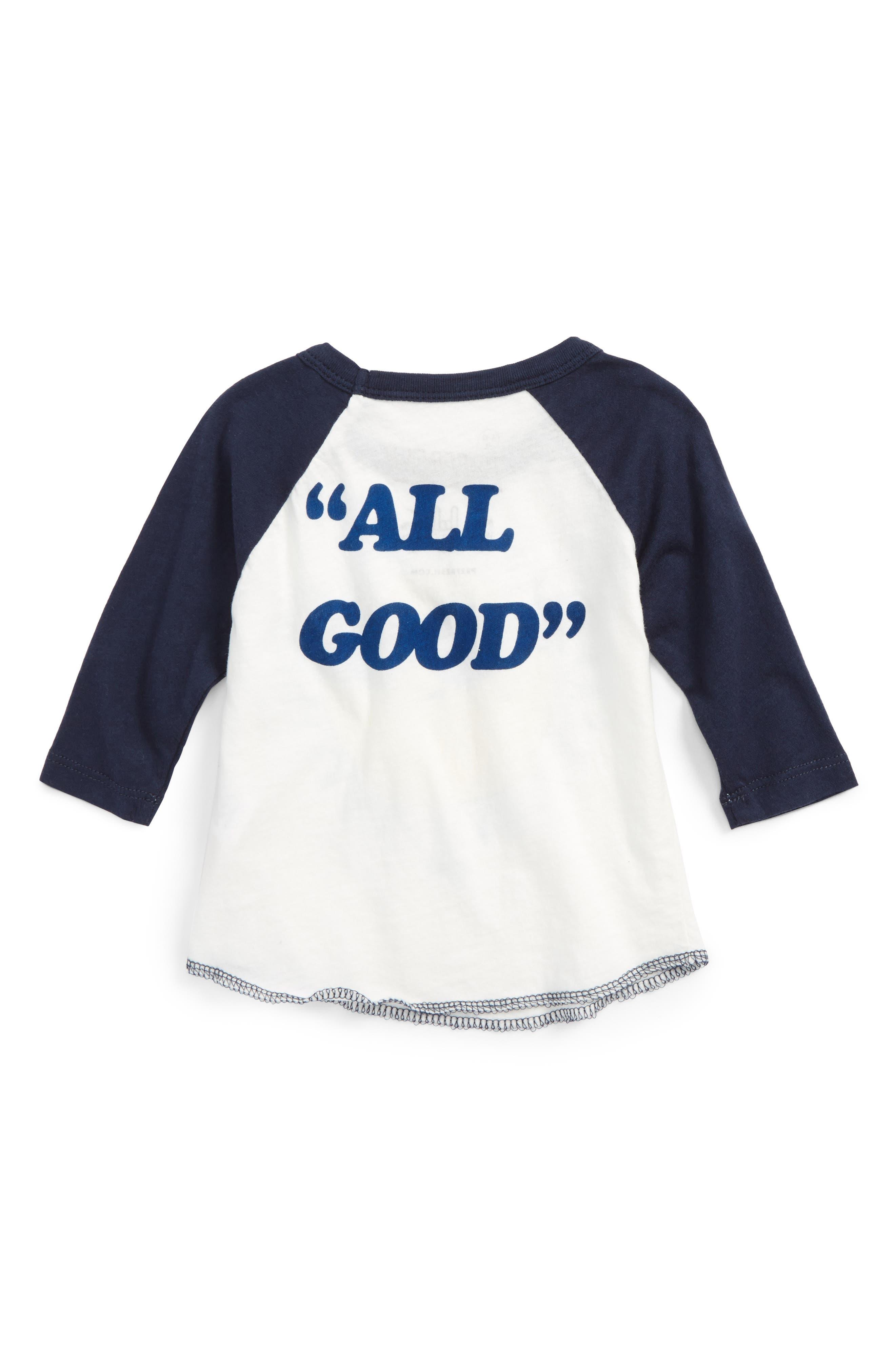 Alternate Image 2  - Prefresh Sunny Baseball Raglan T-Shirt (Baby Boys)