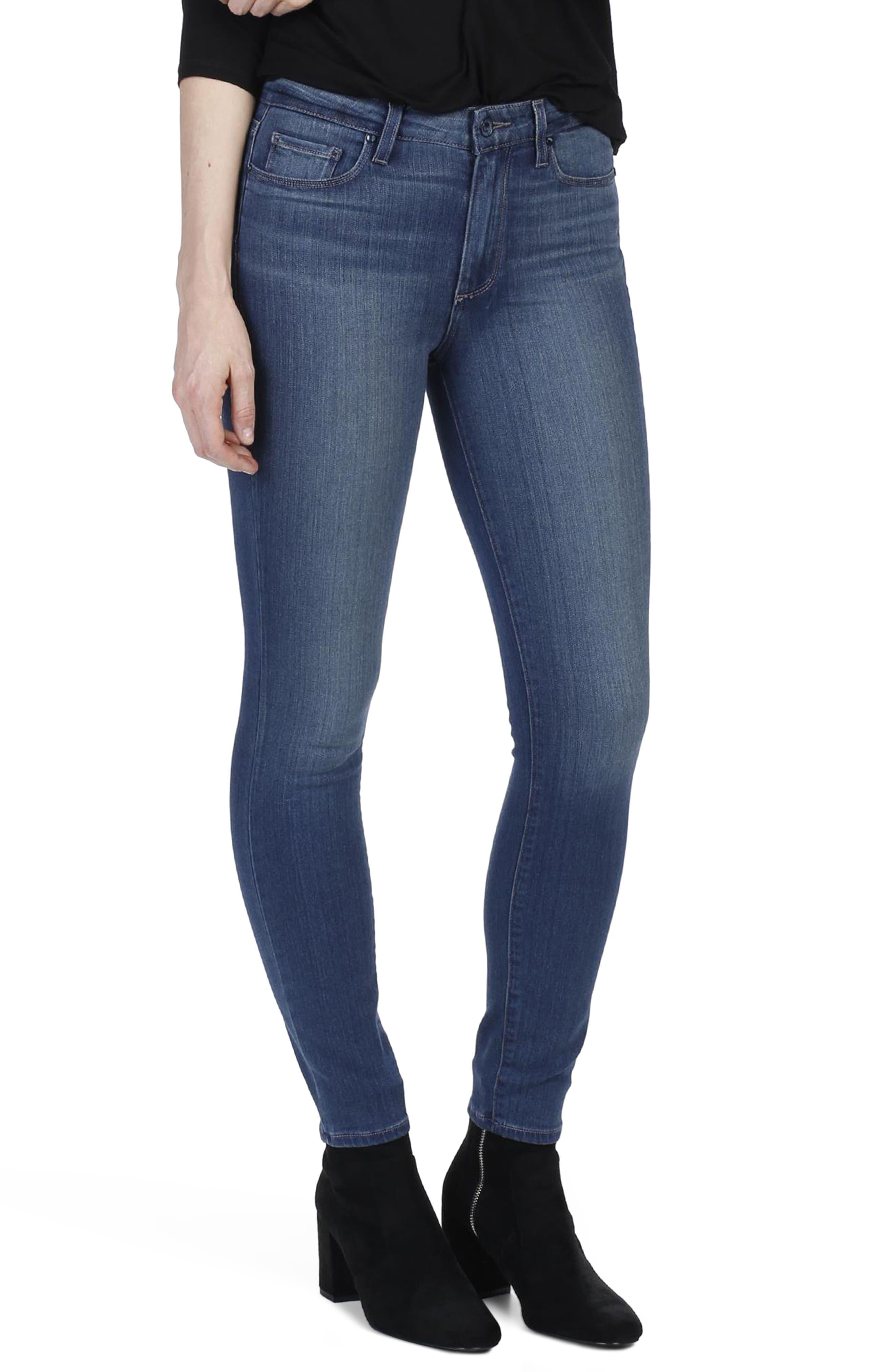 Transcend - Hoxton High Waist Ankle Skinny Jeans,                             Main thumbnail 1, color,                             Vida