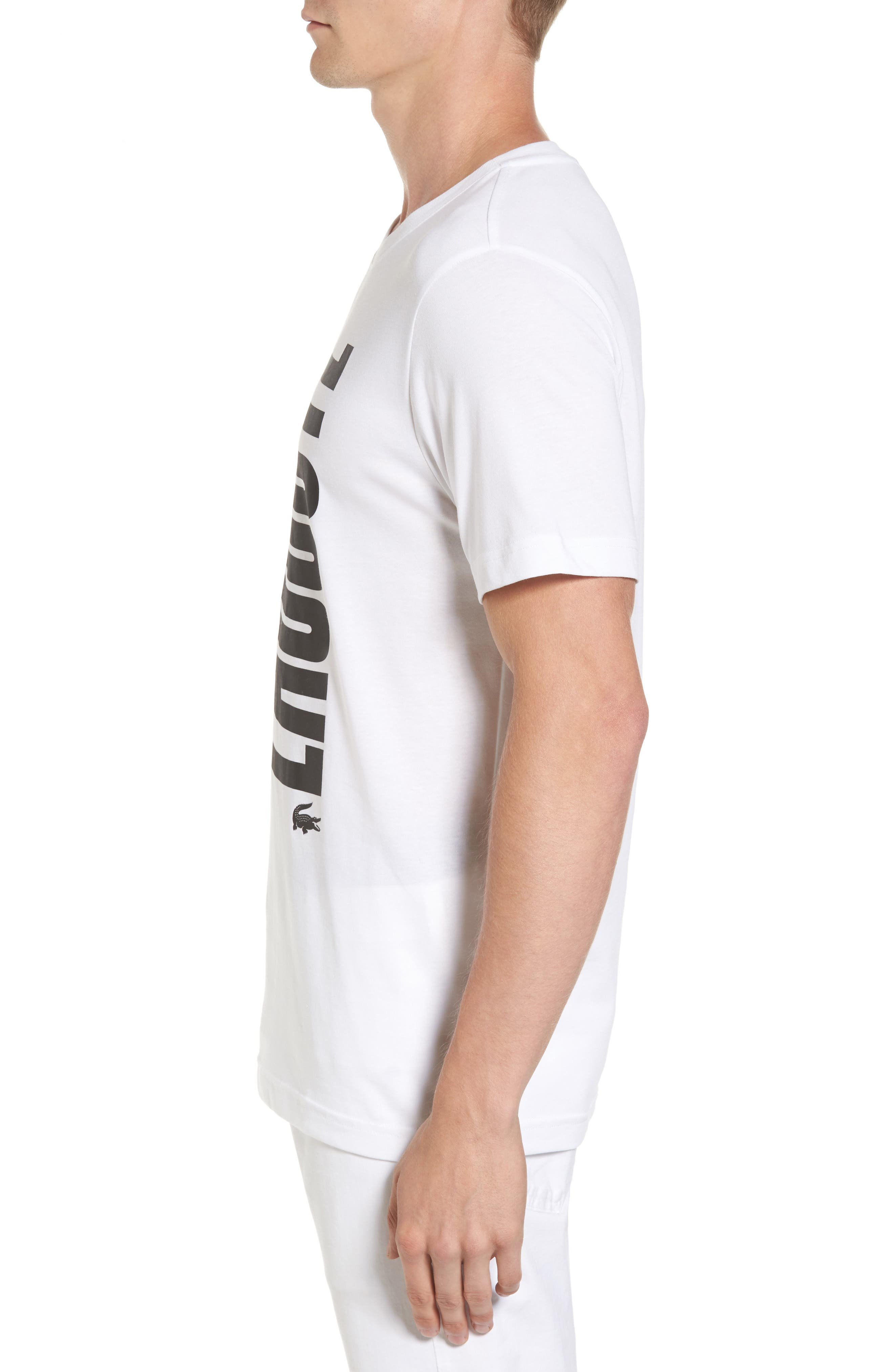 Alternate Image 3  - Lacoste Vertical Graphic T-Shirt