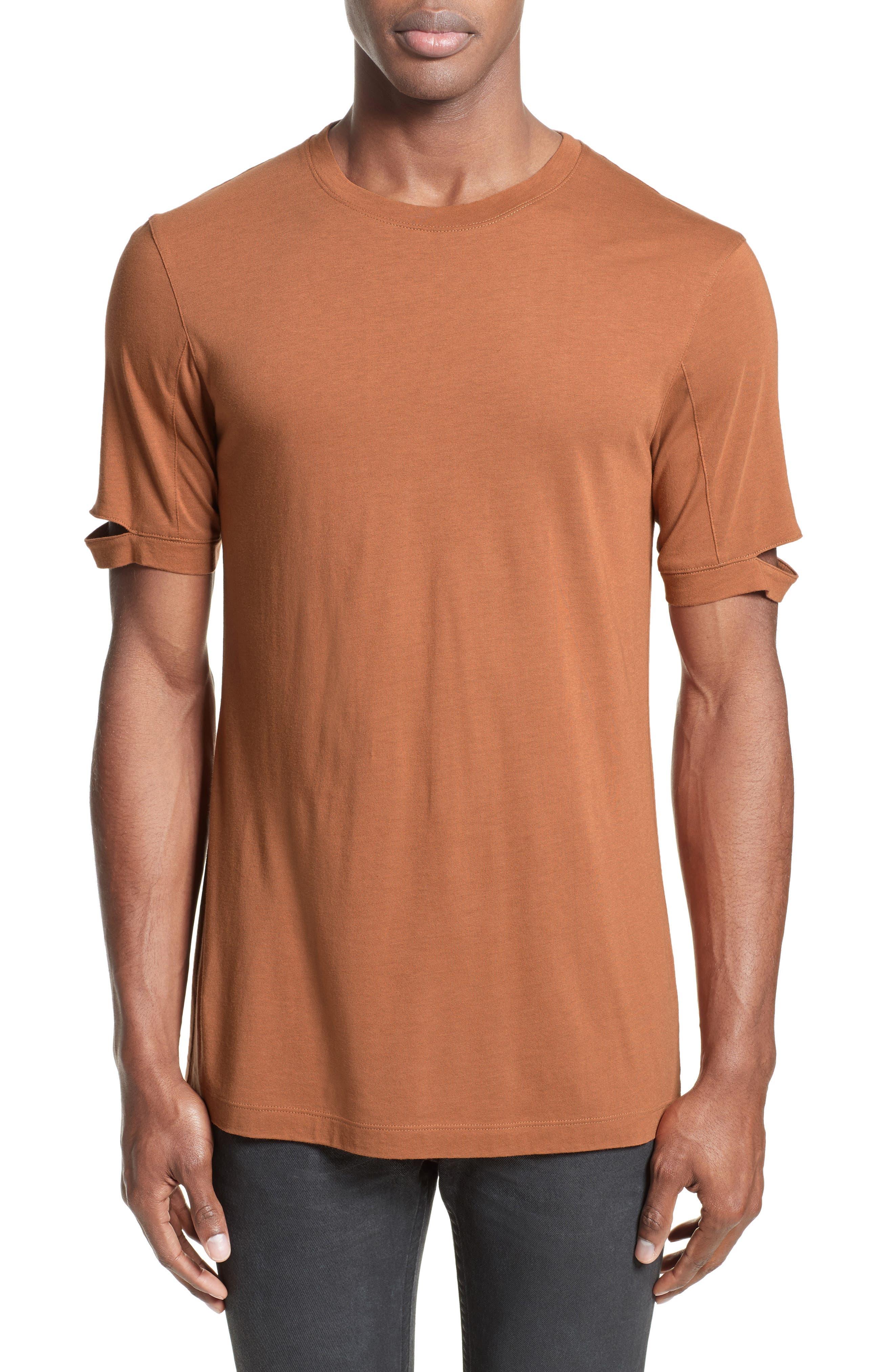 Main Image - Helmut Lang Sliced Sleeve T-Shirt