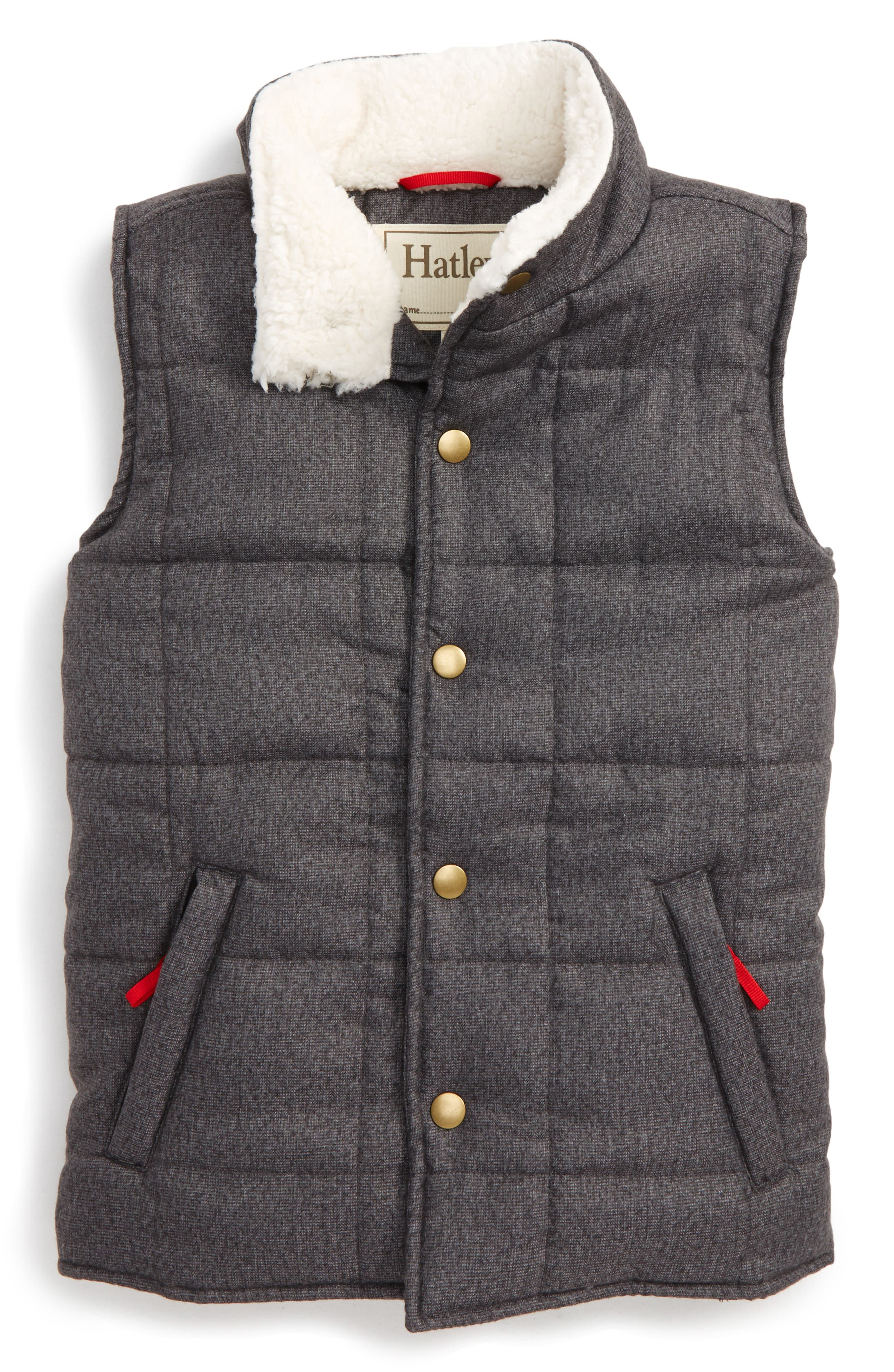 Quilted Vest,                         Main,                         color, Grey
