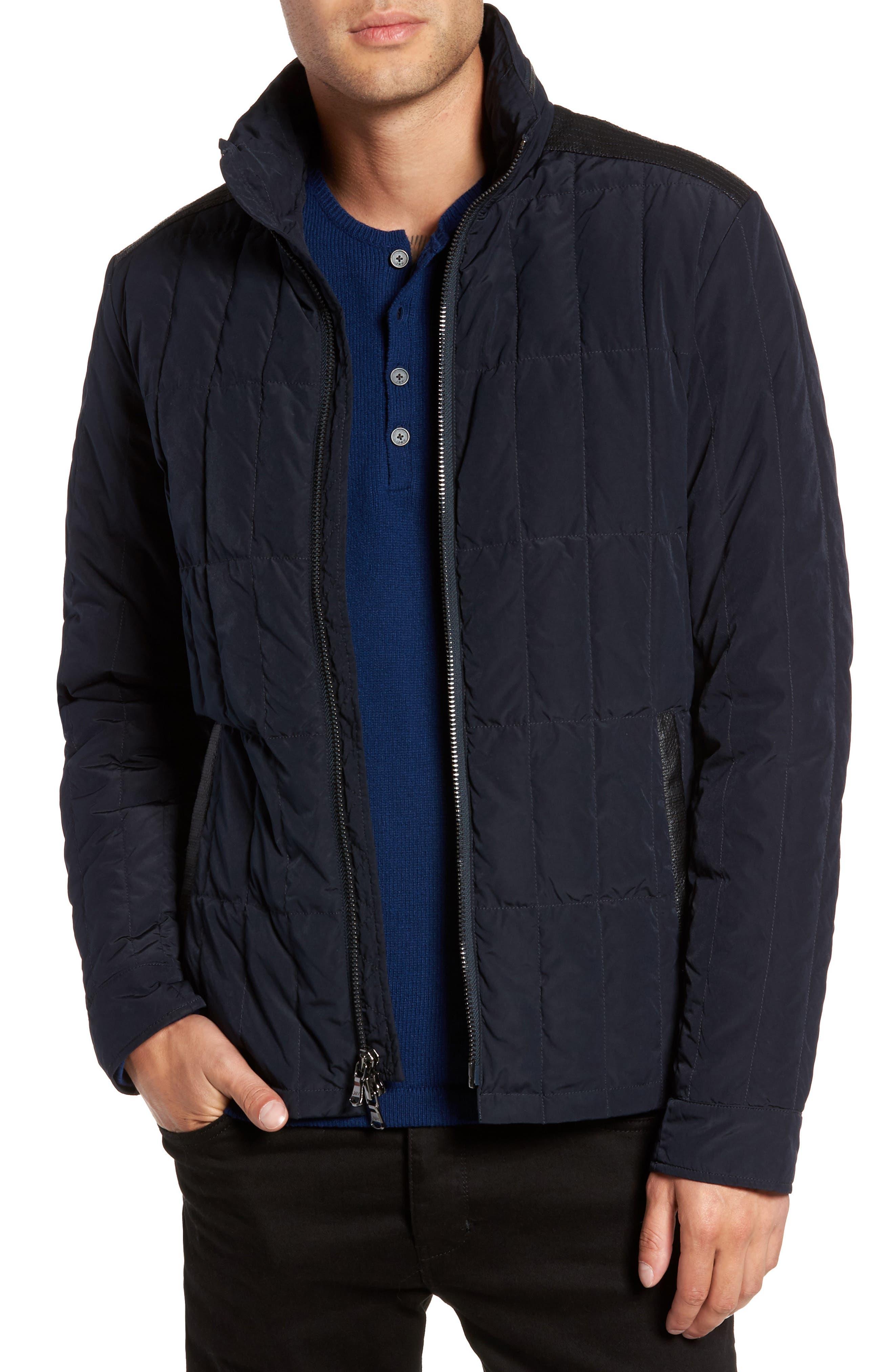 John Varvatos Star USA Quilted Down Jacket