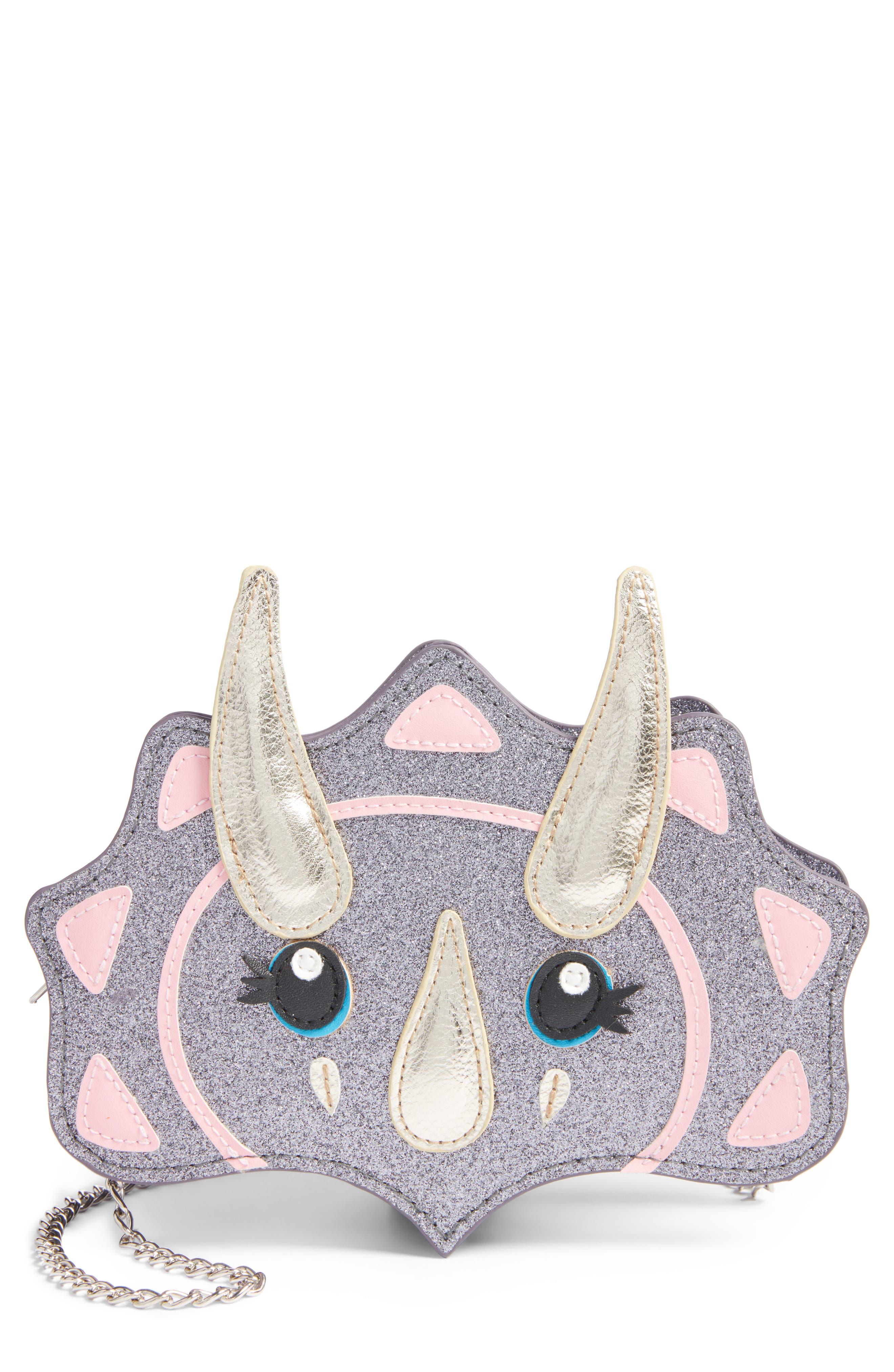 Capelli New York Dinosaur Glitter Shoulder Bag (Girls)