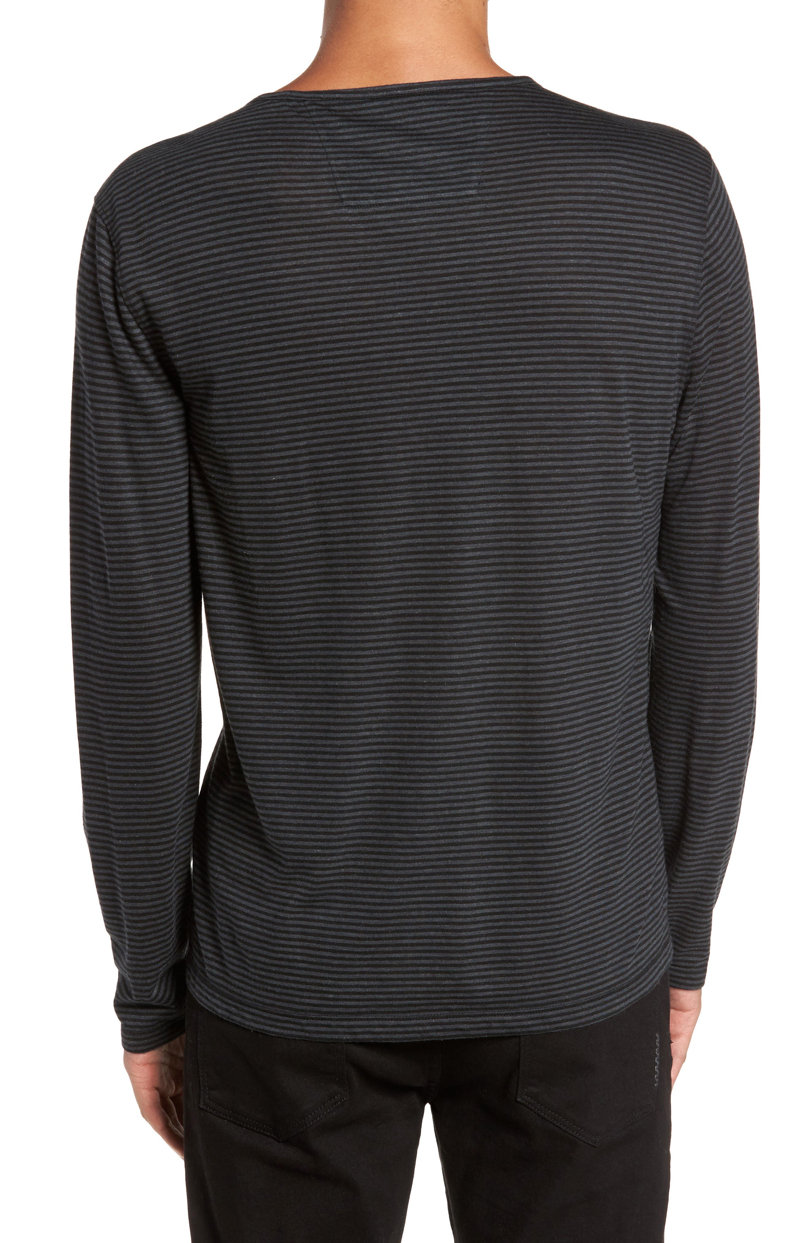 Alternate Image 2  - John Varvatos Star USA Stripe Long Sleeve T-Shirt