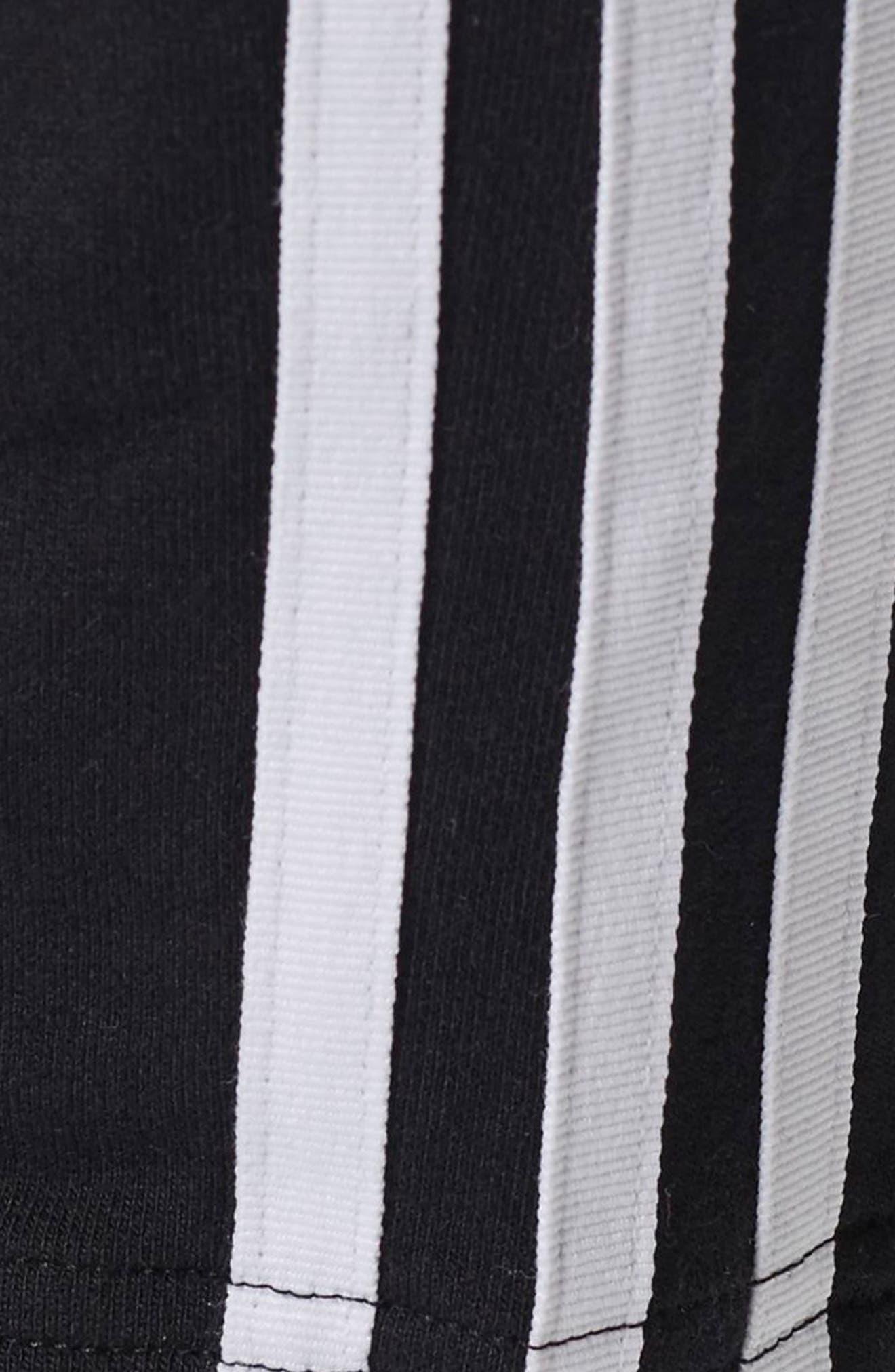 3-Stripes Tapered Pants,                             Alternate thumbnail 7, color,                             Black
