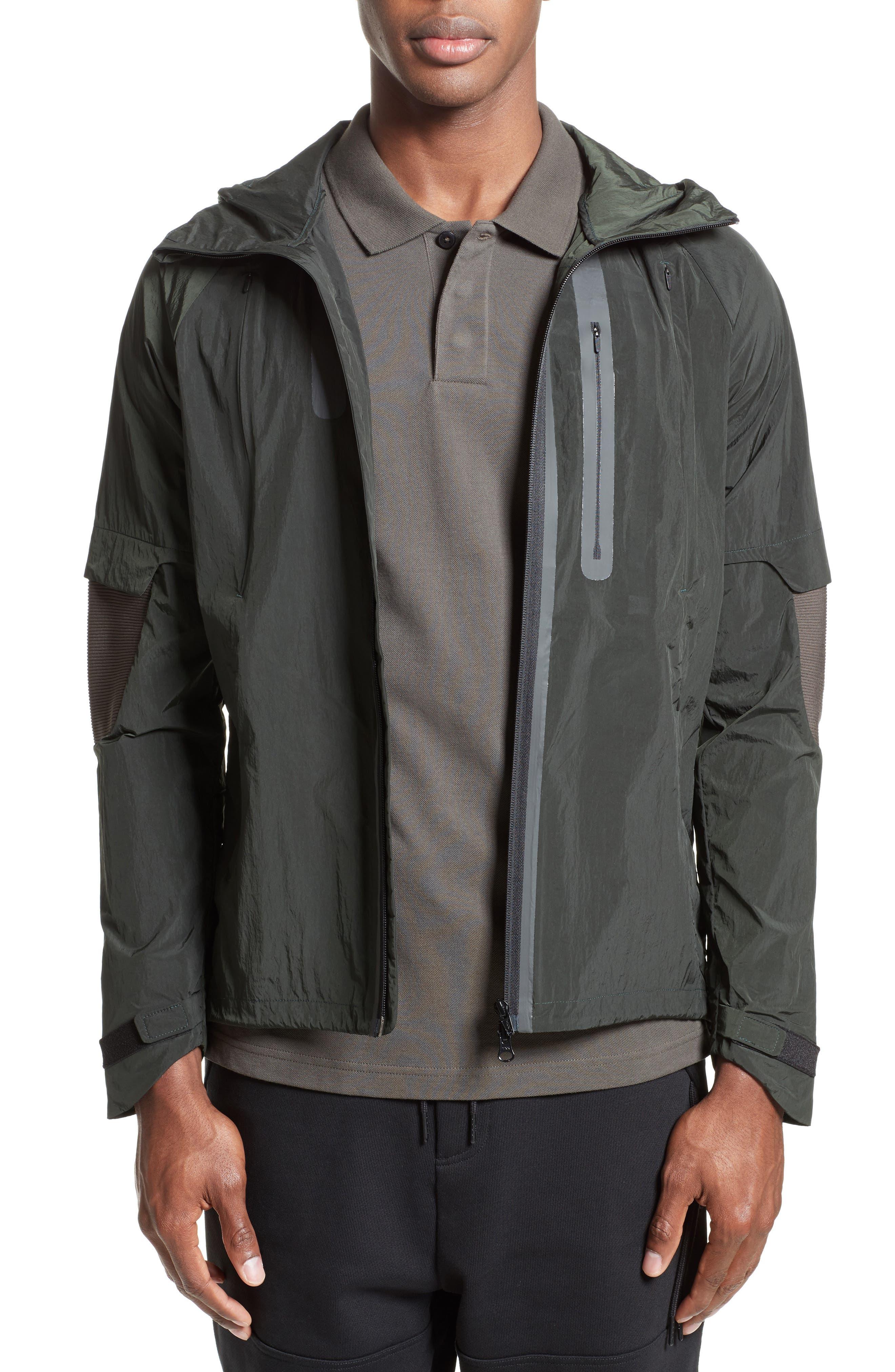 Running Jacket,                         Main,                         color, Black Olive