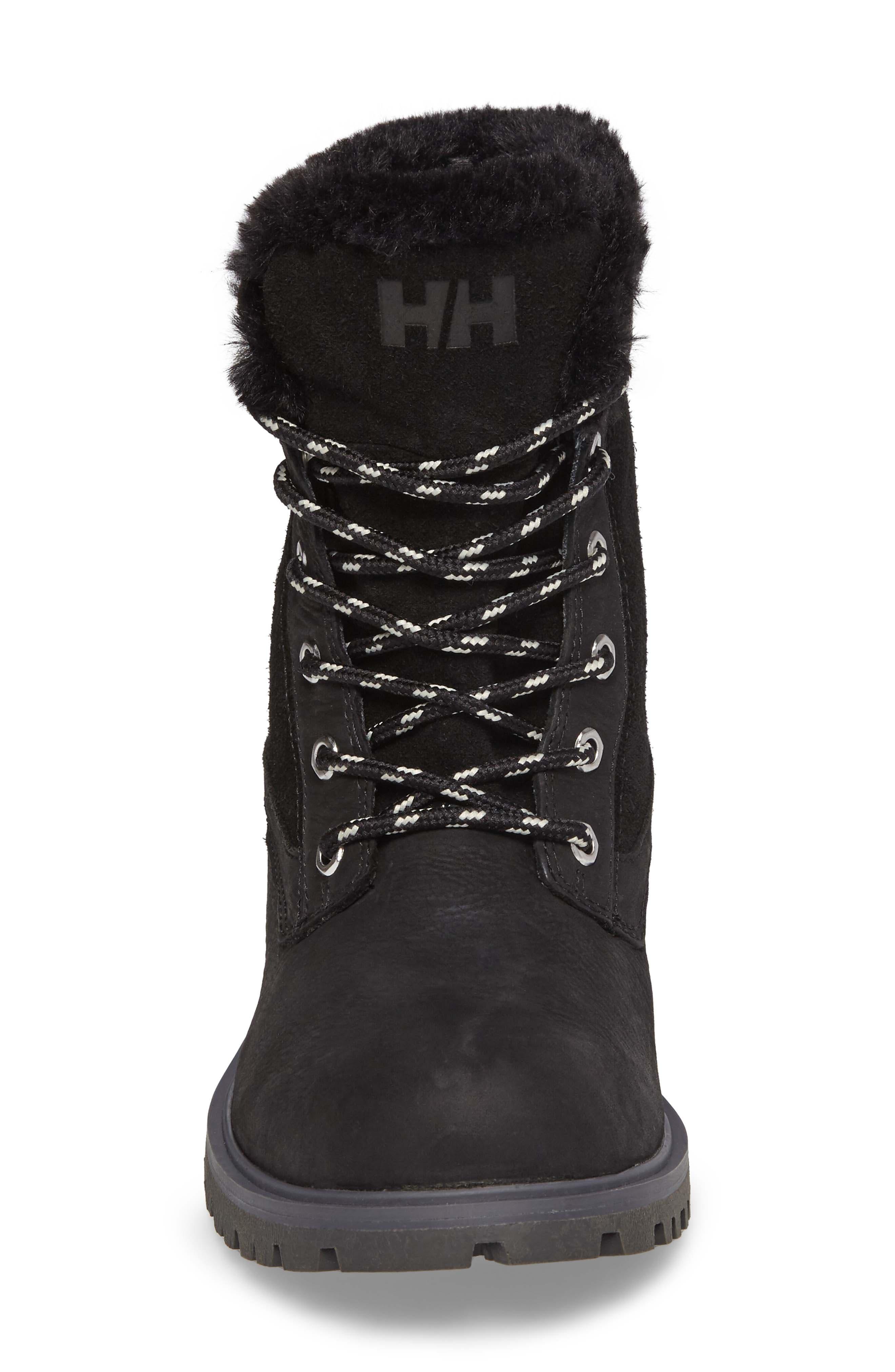 Marion Waterproof Winter Boot,                             Alternate thumbnail 4, color,                             Jet Black / Ebony / Black