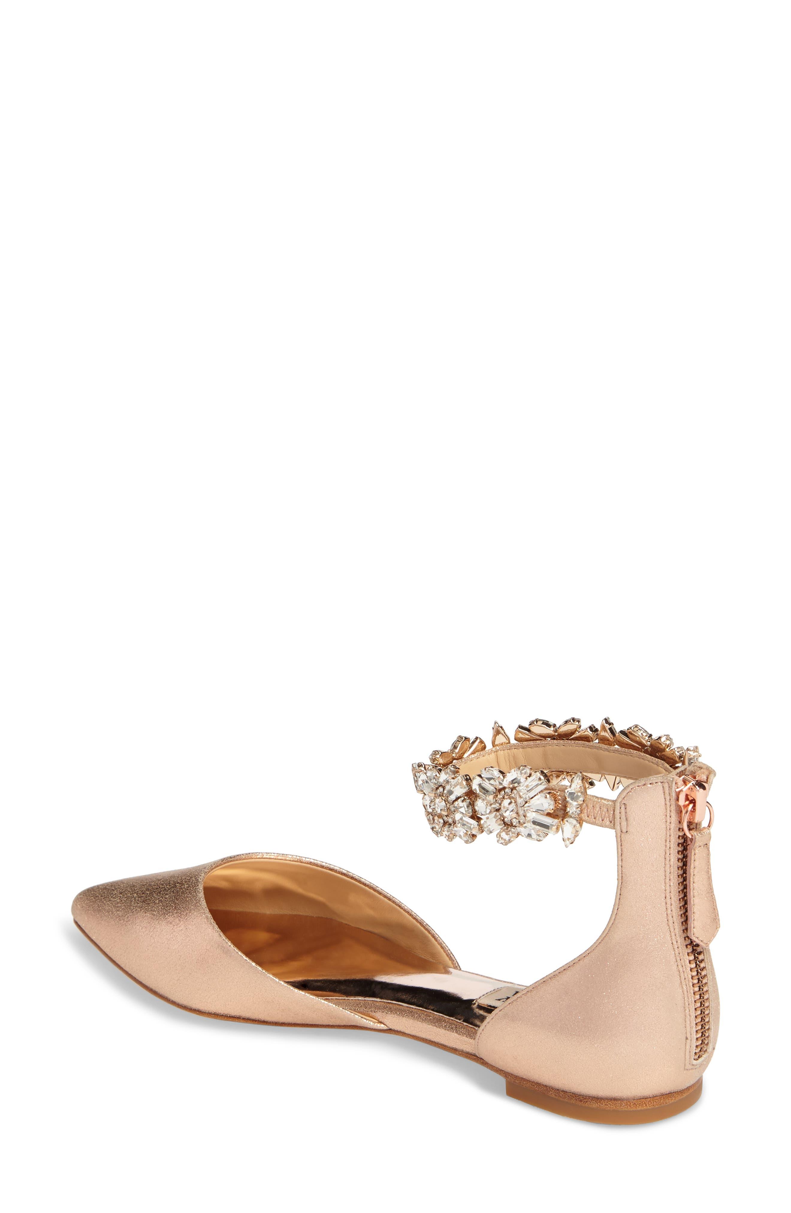 Alternate Image 2  - Badgley Mischka Morgen Ankle Strap Flat (Women)