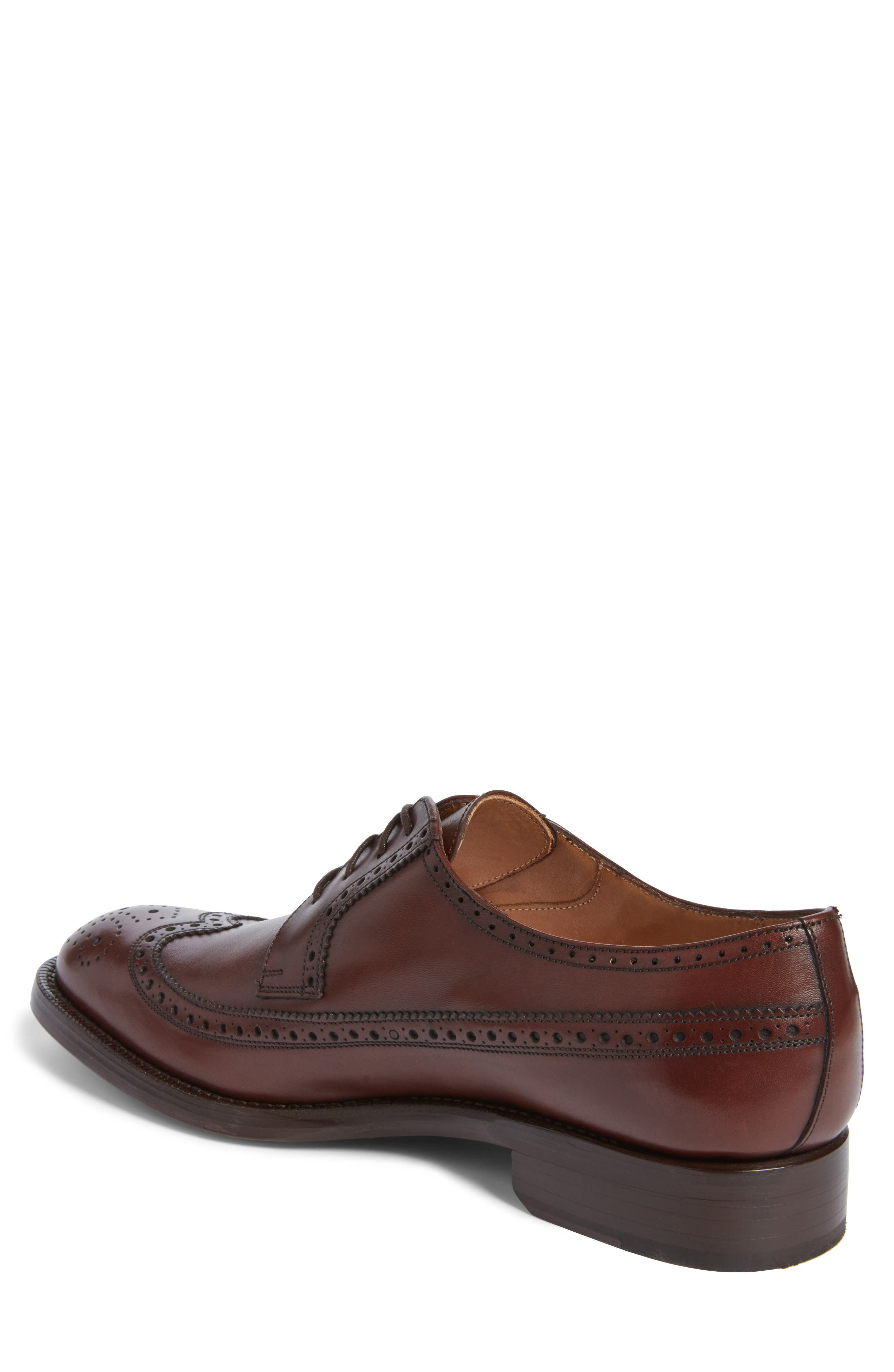 Hubert Longwing Derby,                             Alternate thumbnail 2, color,                             Chocolate Leather