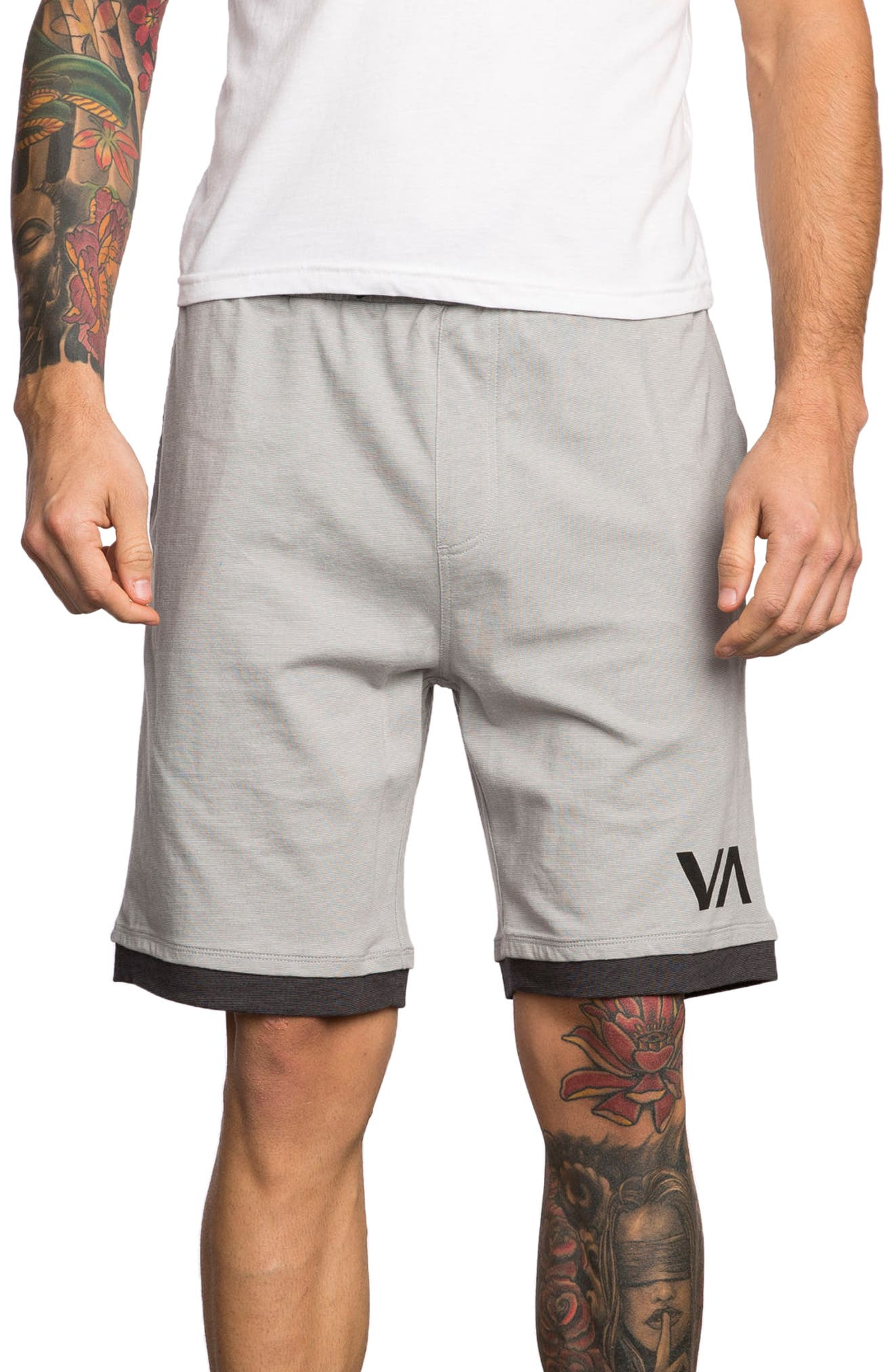 Layers Sport Shorts,                         Main,                         color, Athletic Heather