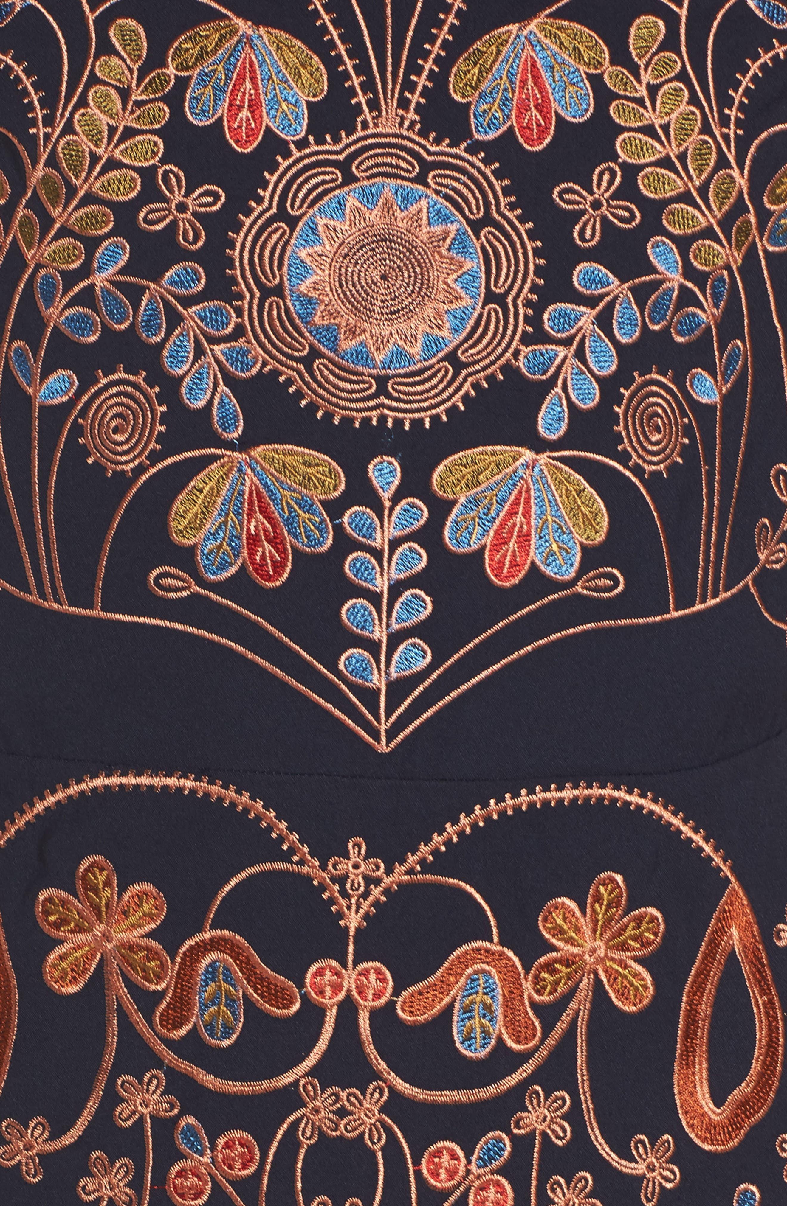 Alternate Image 5  - Foxiedox Hadiya Embroidered A-Line Dress