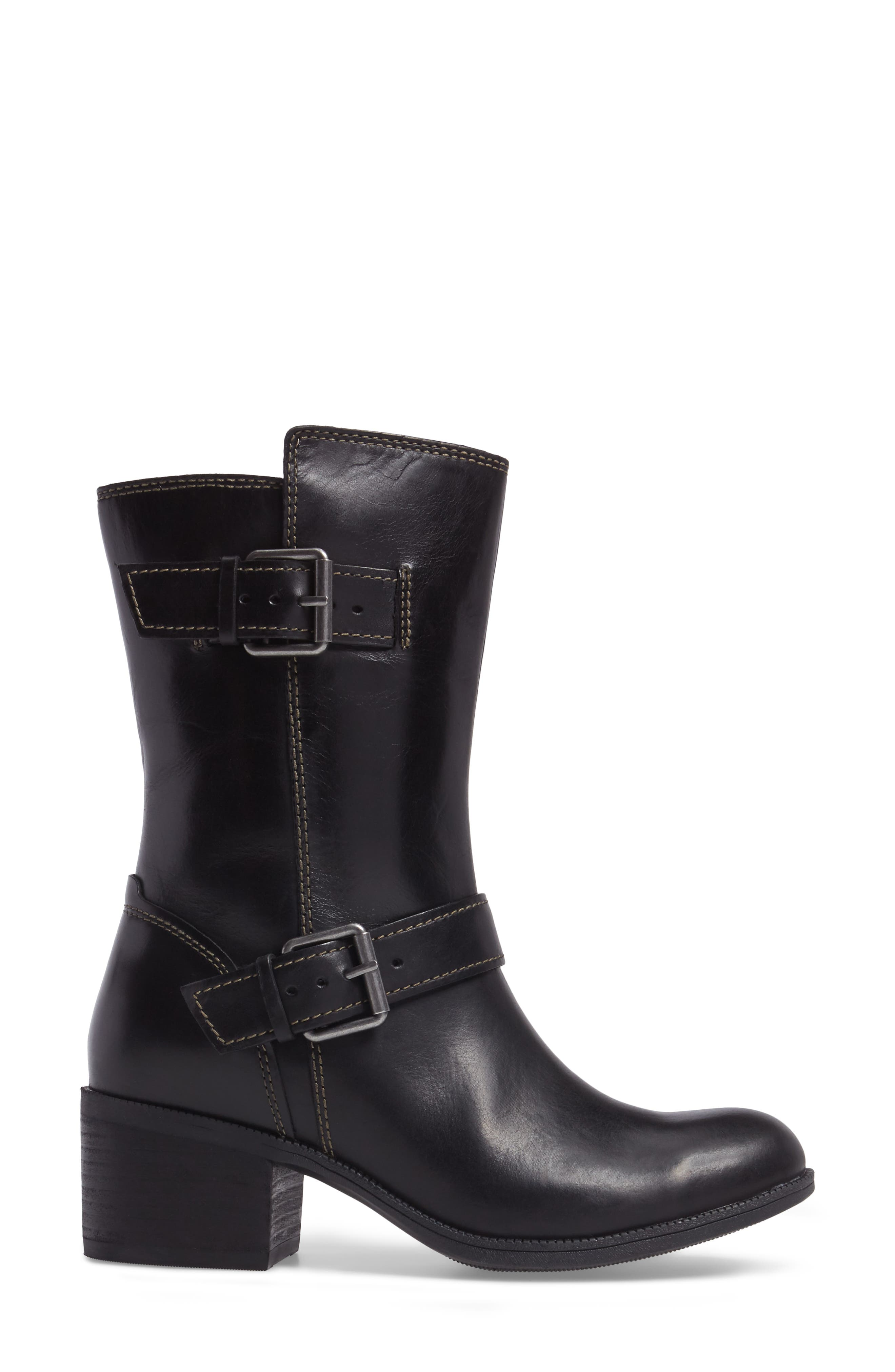 Maypearl Oasis Boot,                             Alternate thumbnail 3, color,                             Black Leather