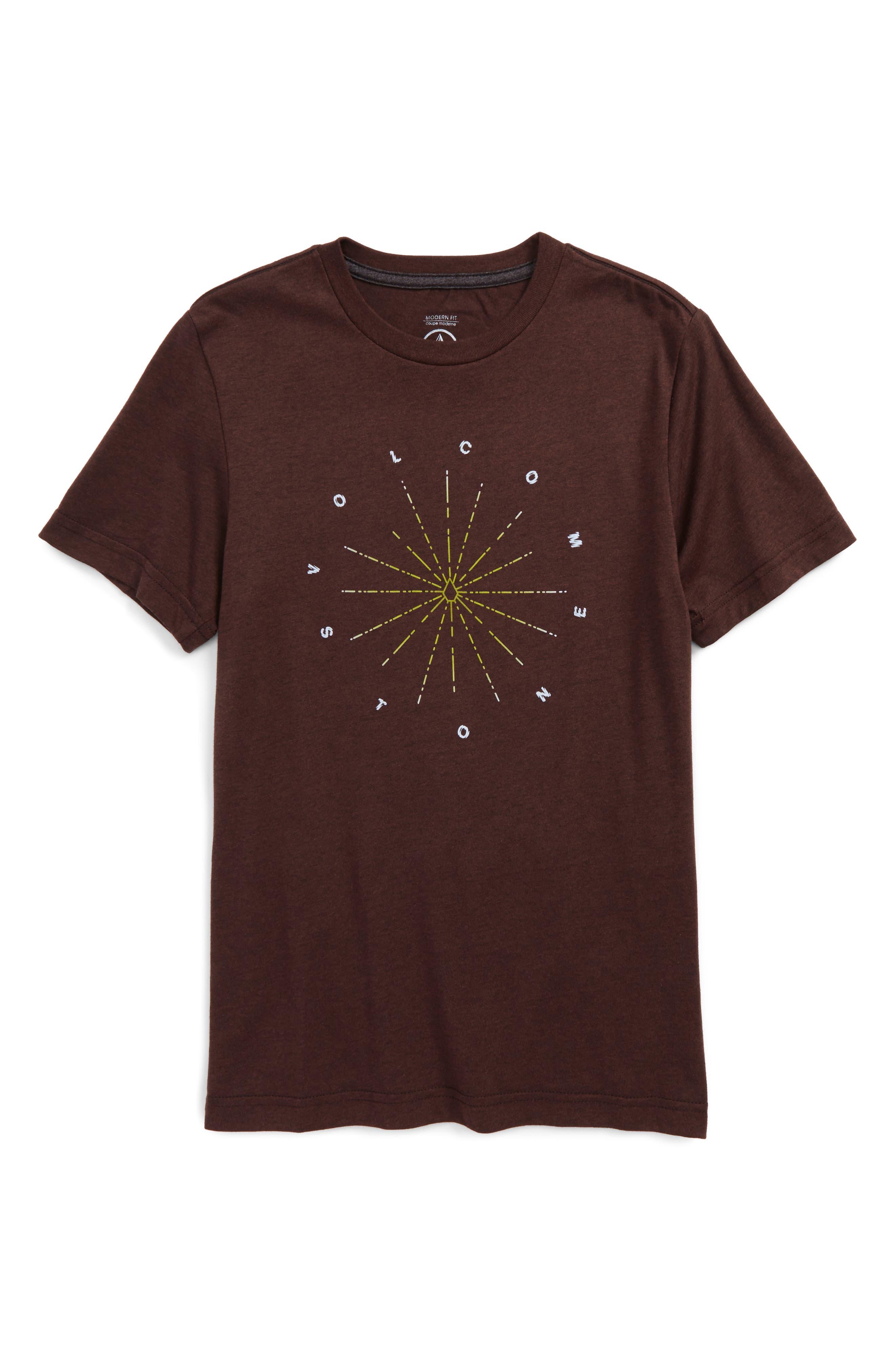 Alternate Image 1 Selected - Volcom Burst Graphic T-Shirt (Big Boys)