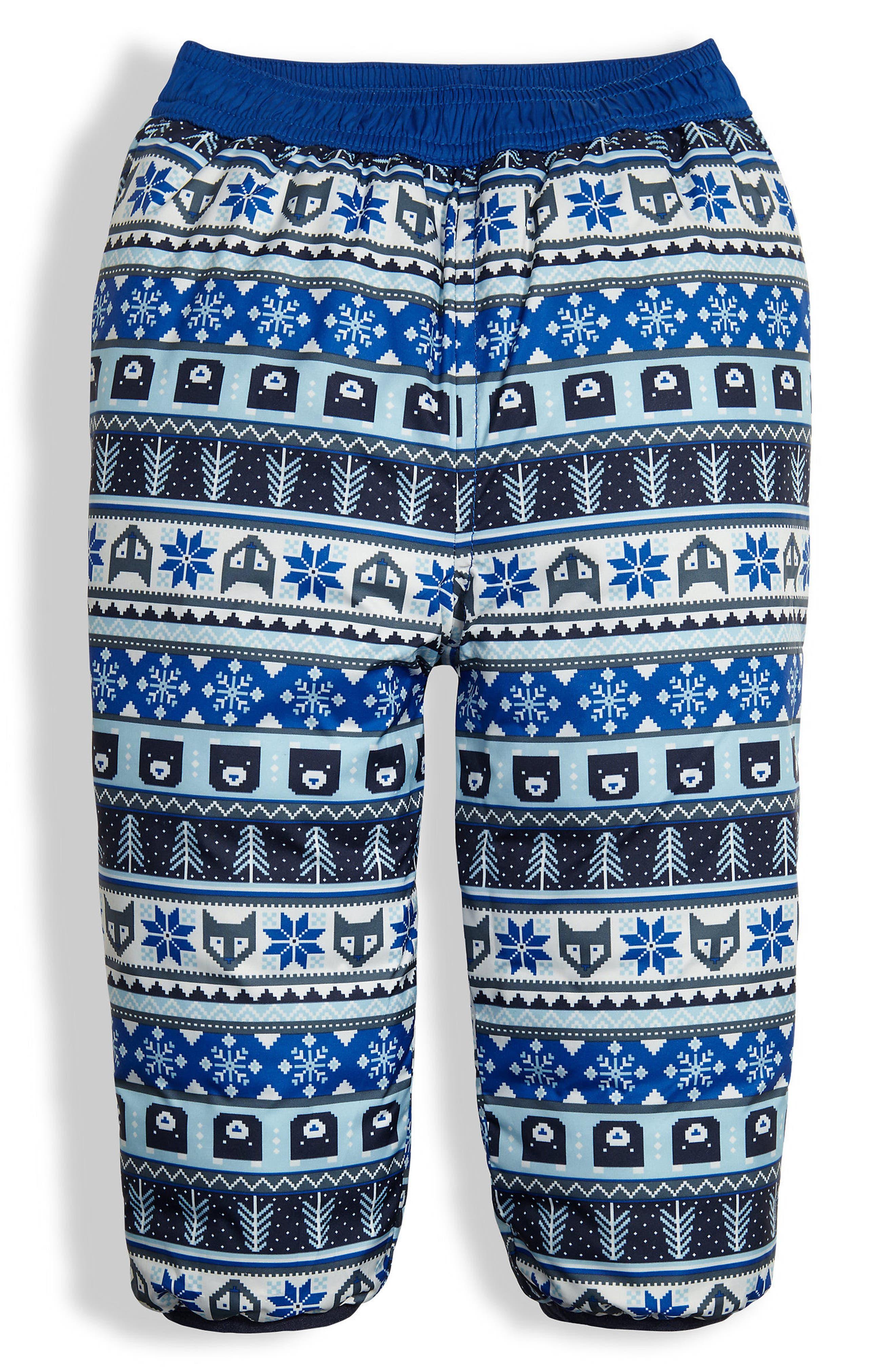 Perrito Reversible Water Repellent Pants,                             Alternate thumbnail 3, color,                             Bright Cobalt Blue