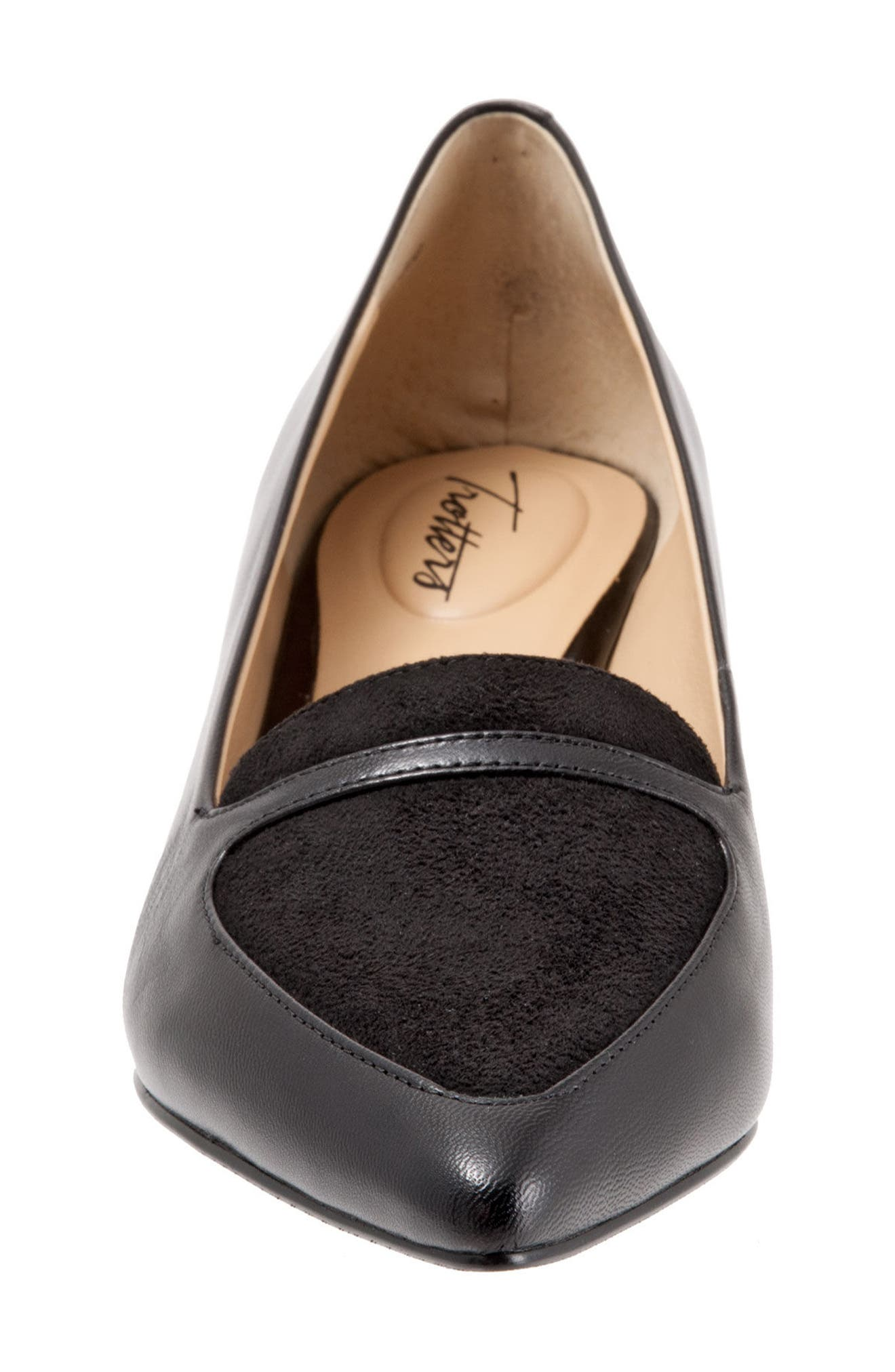 'Piper' Pointy Toe Pump,                             Alternate thumbnail 4, color,                             Black