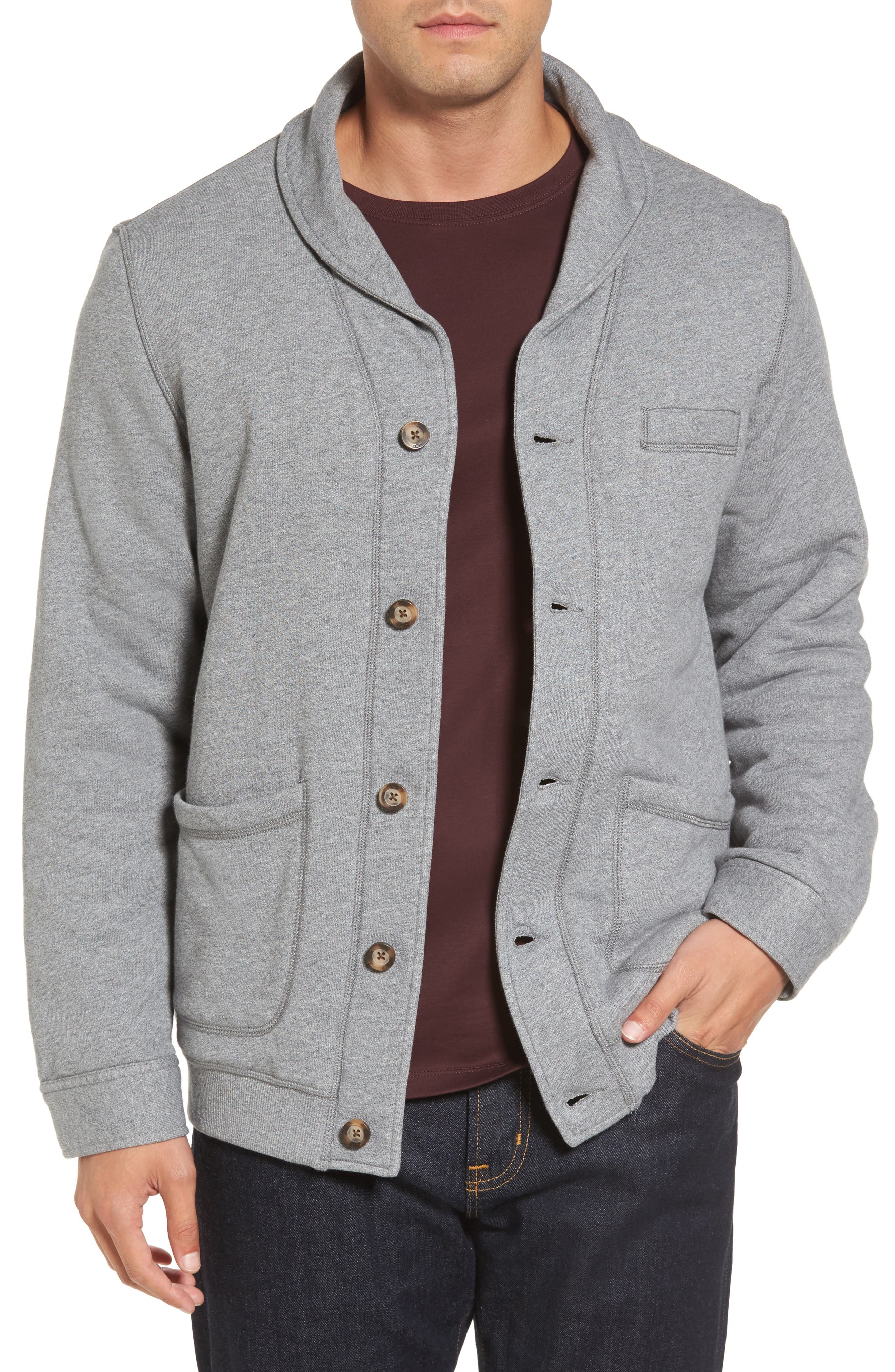 Alternate Image 1 Selected - UGG® Faux Shearling Lined Shawl Collar Cardigan