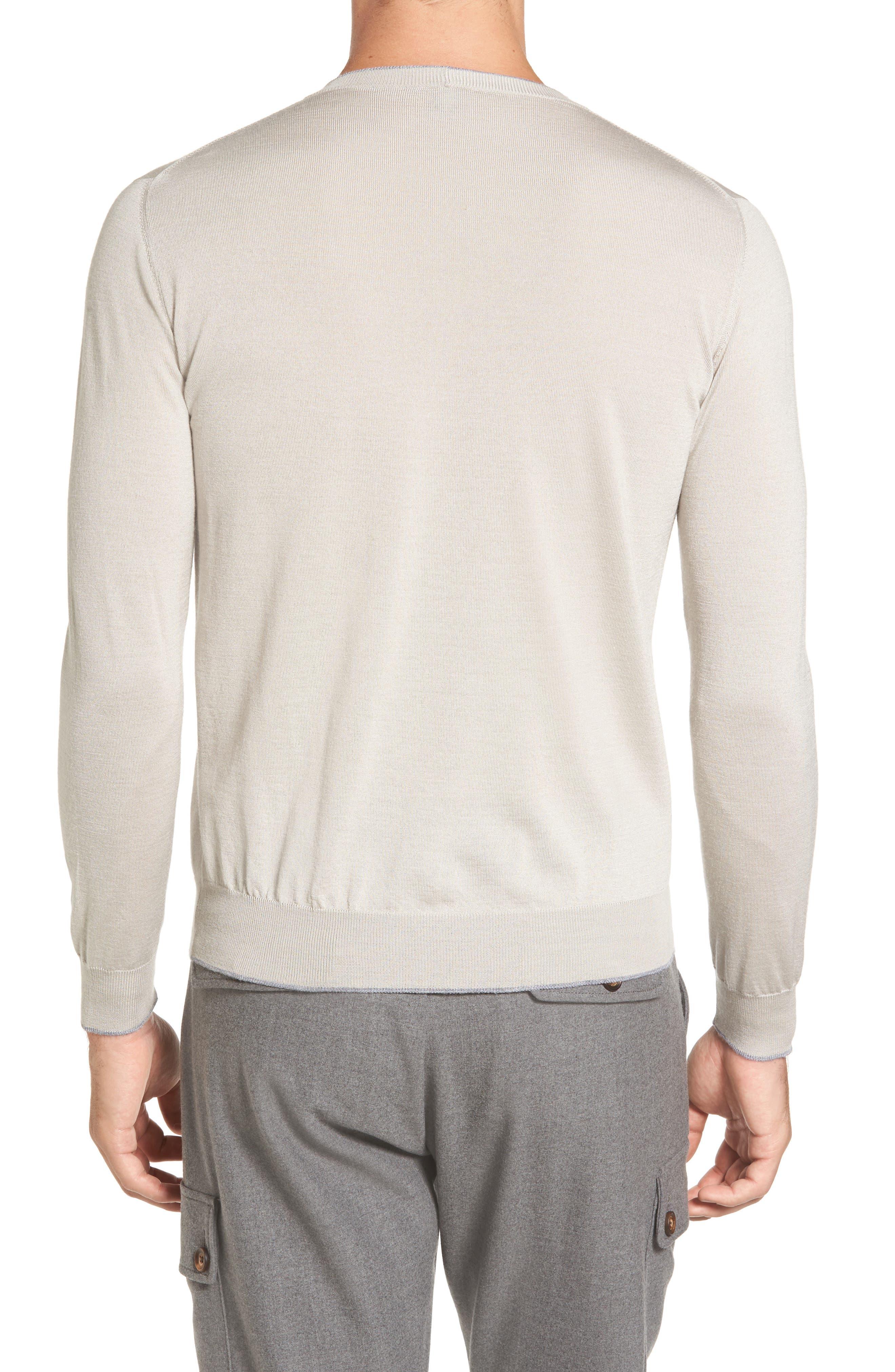 Alternate Image 2  - Eleventy Merino Wool & Silk Tipped Sweater