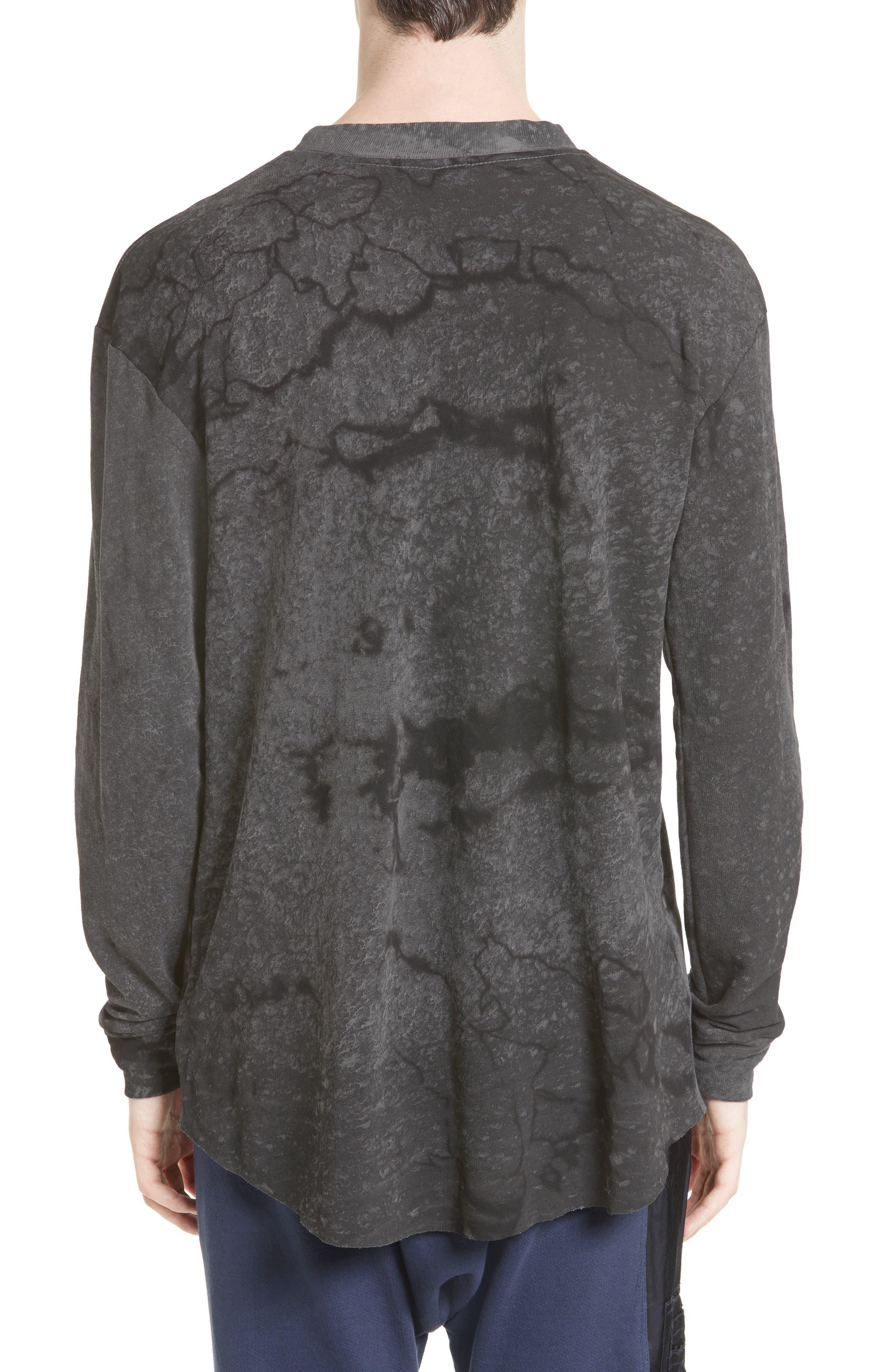 Keld Tie Dye Print T-Shirt,                             Alternate thumbnail 2, color,                             Black Rain
