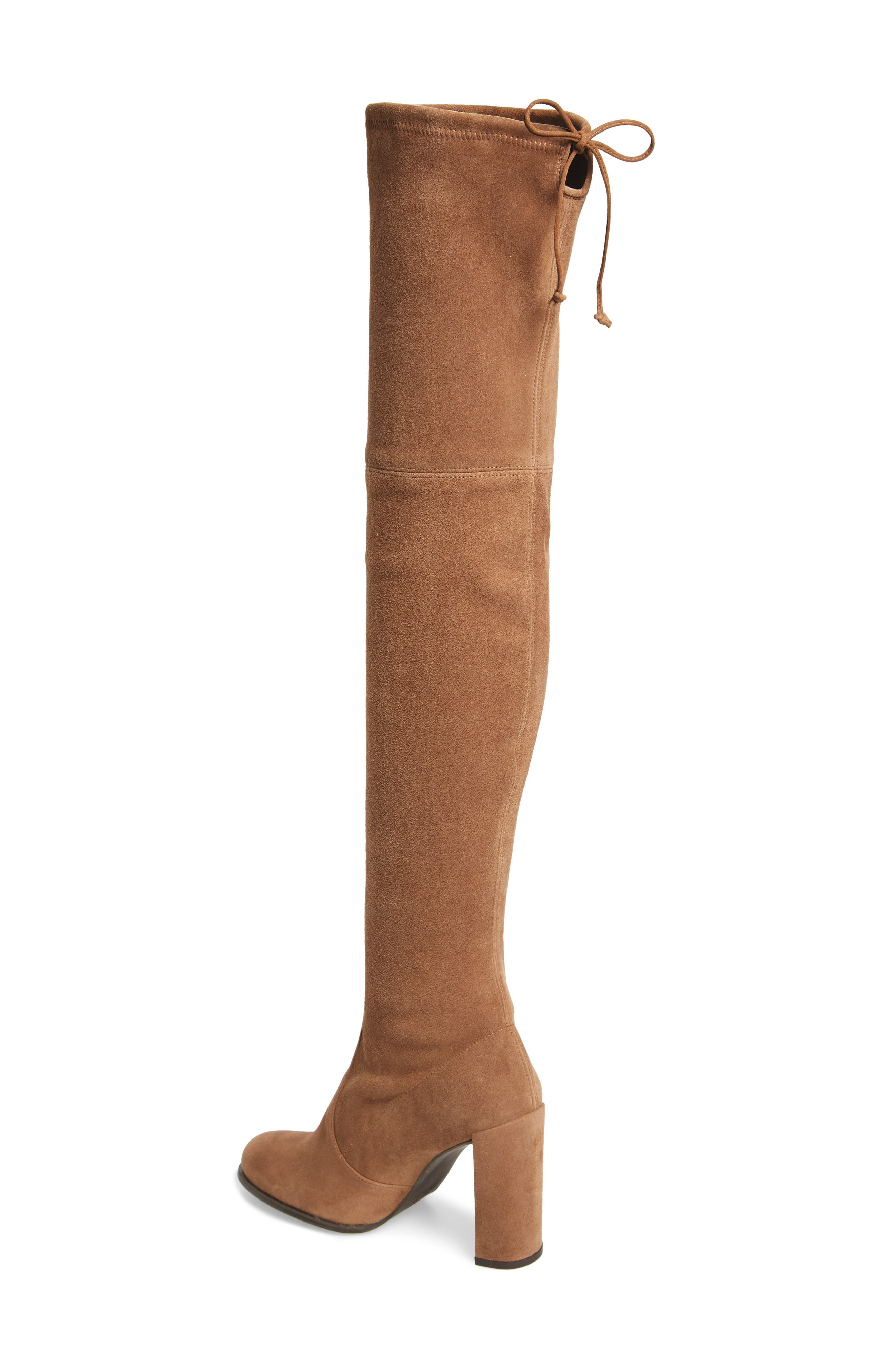 Hiline Over the Knee Boot,                             Alternate thumbnail 2, color,                             Nutmeg Suede