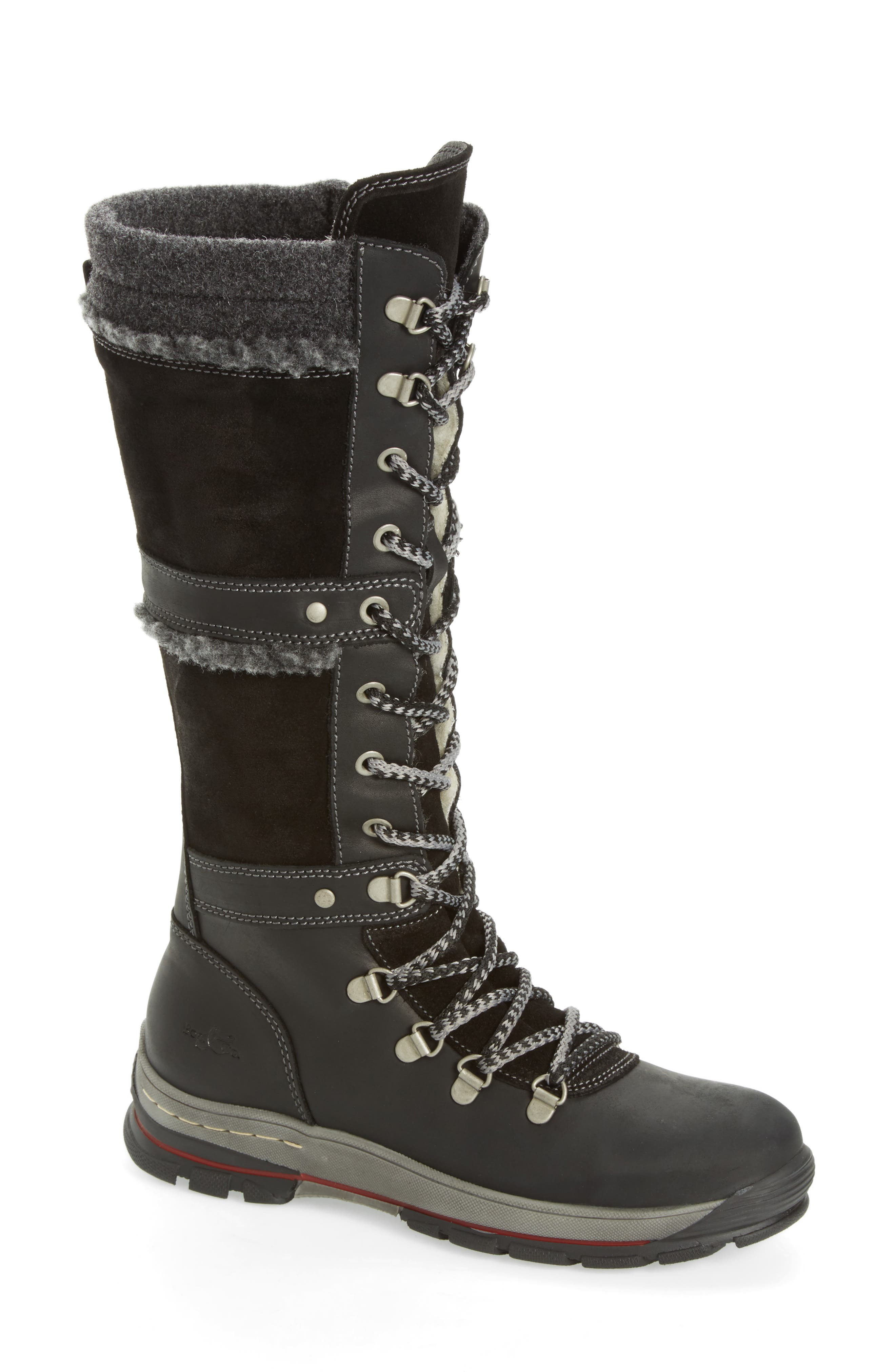 Gabriella Waterproof Boot,                             Main thumbnail 1, color,                             Black/ Dark Grey