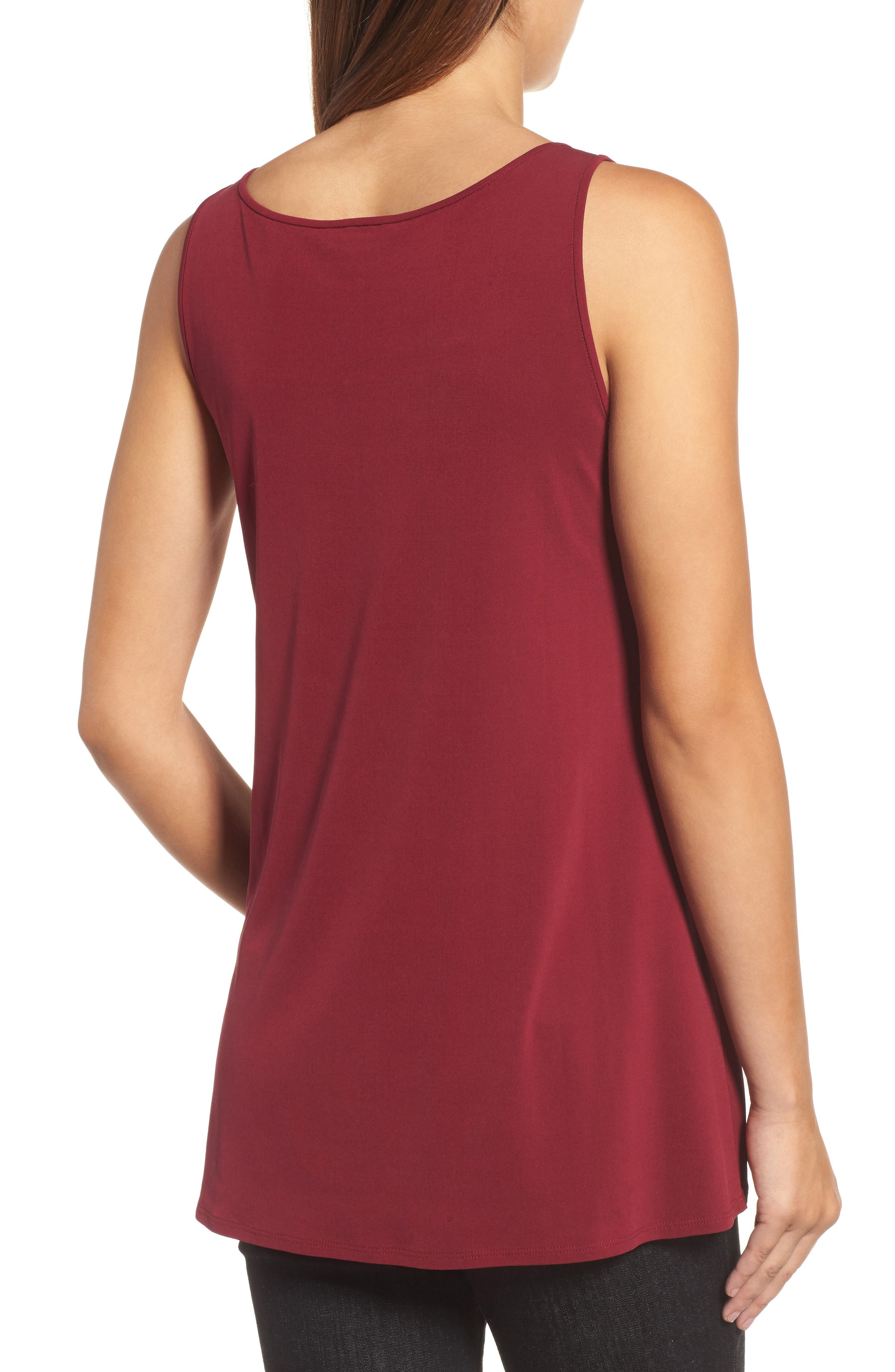 Alternate Image 2  - Eileen Fisher Long Silk Tank (Regular & Petite)