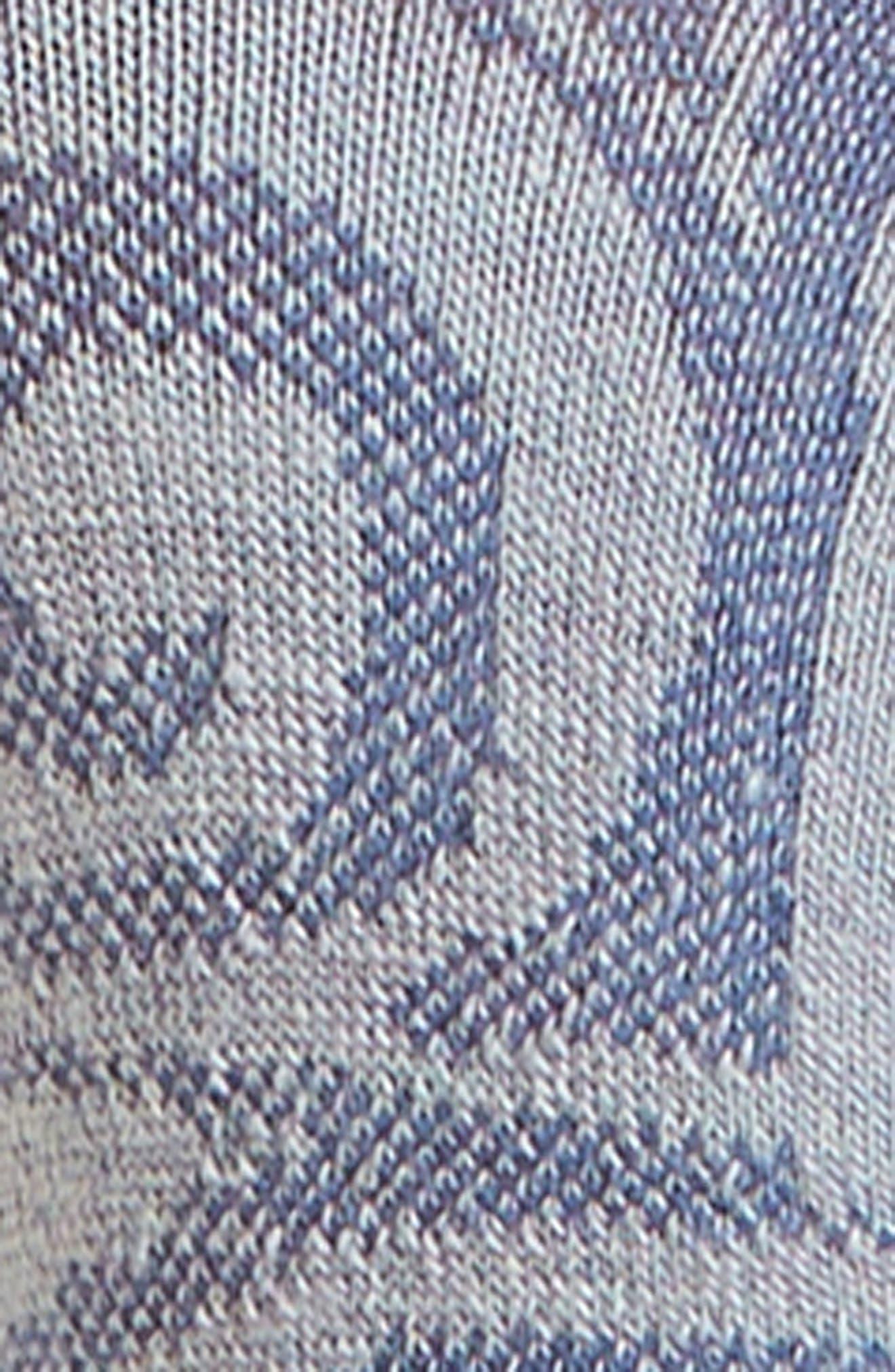 Sadie Swirl Hide & Seek No-Show Socks,                             Alternate thumbnail 2, color,                             Blue Ice Heather