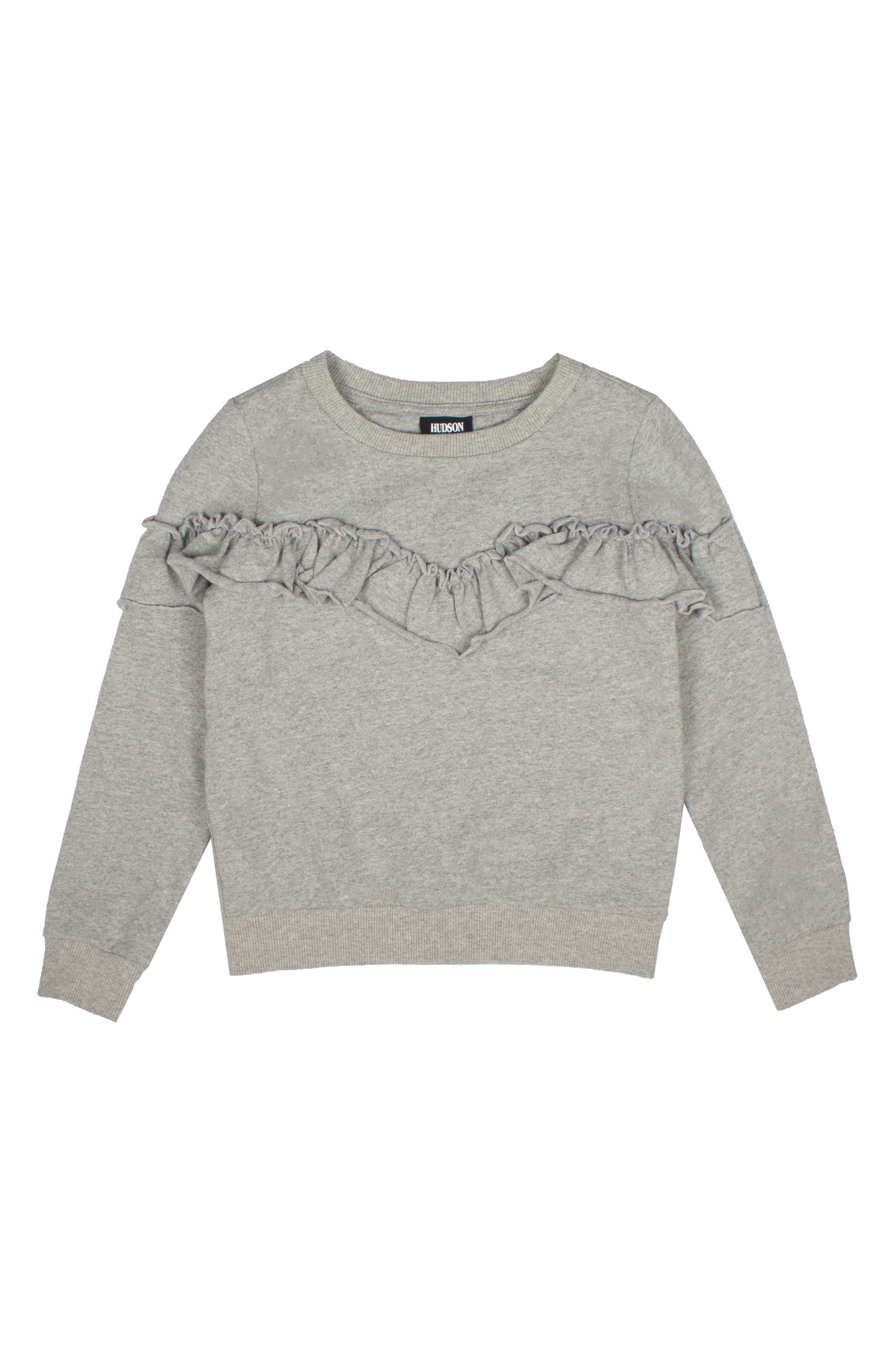 Main Image - Hudson Kids Ruffle Sweatshirt (Baby Girls)