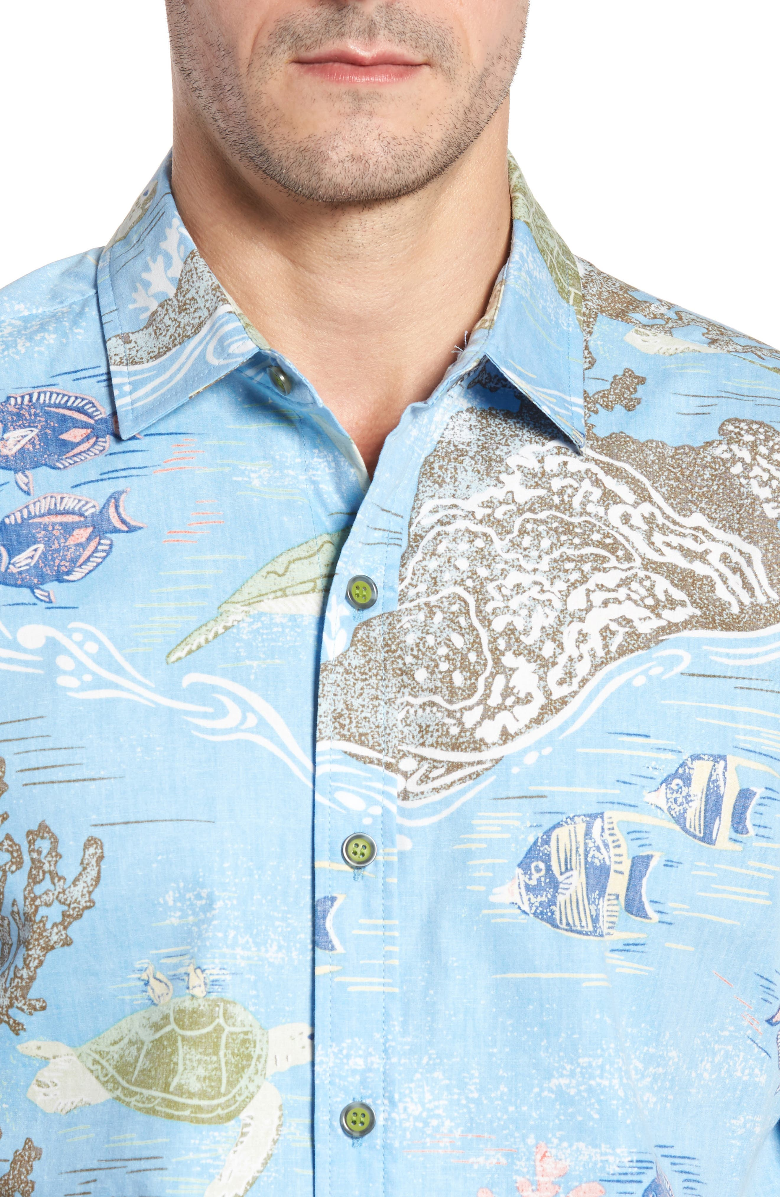 Alternate Image 4  - Kahala Laupapa Slim Fit Camp Shirt