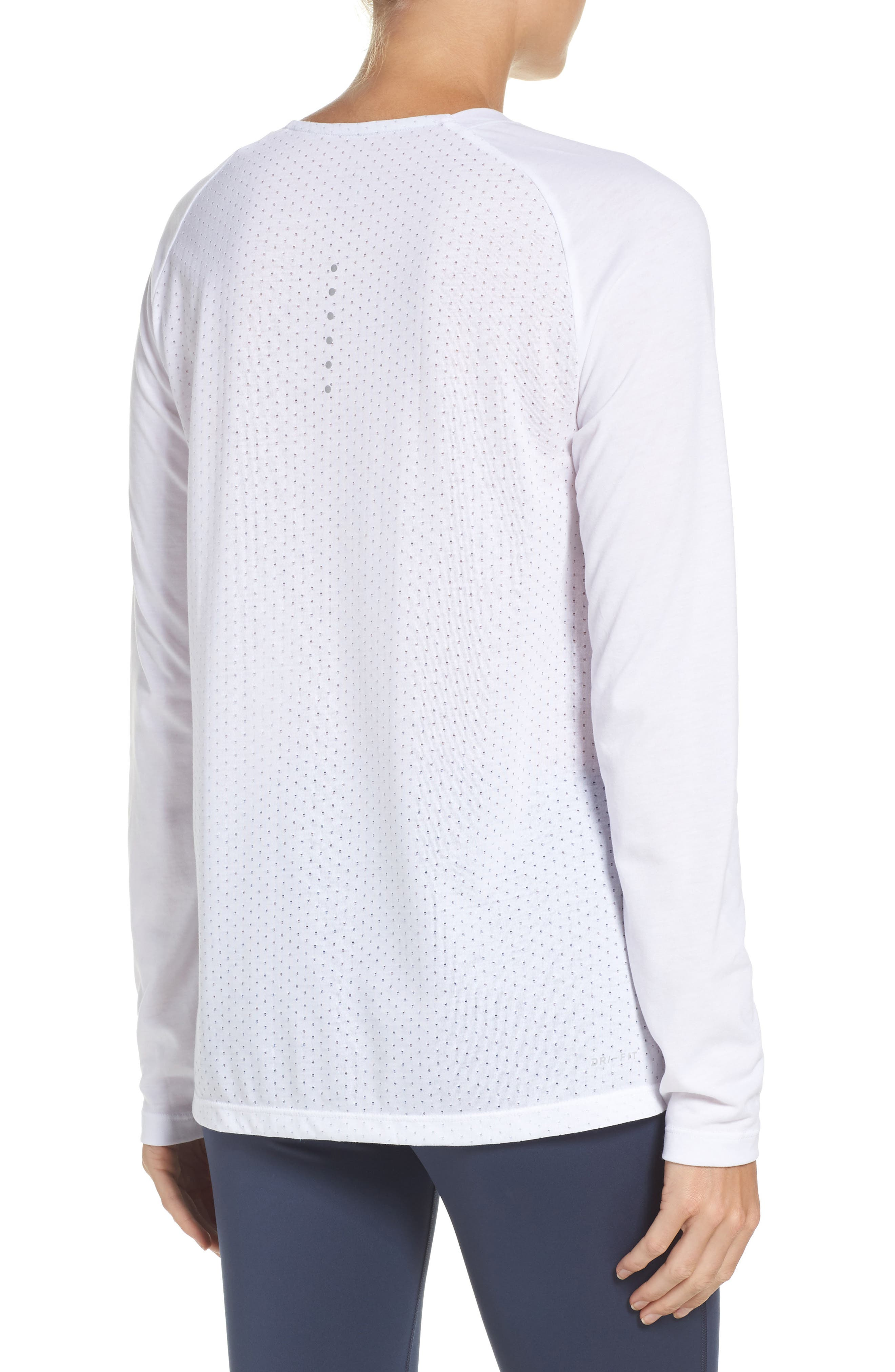 Breathe Tailwind Running Top,                             Alternate thumbnail 2, color,                             White