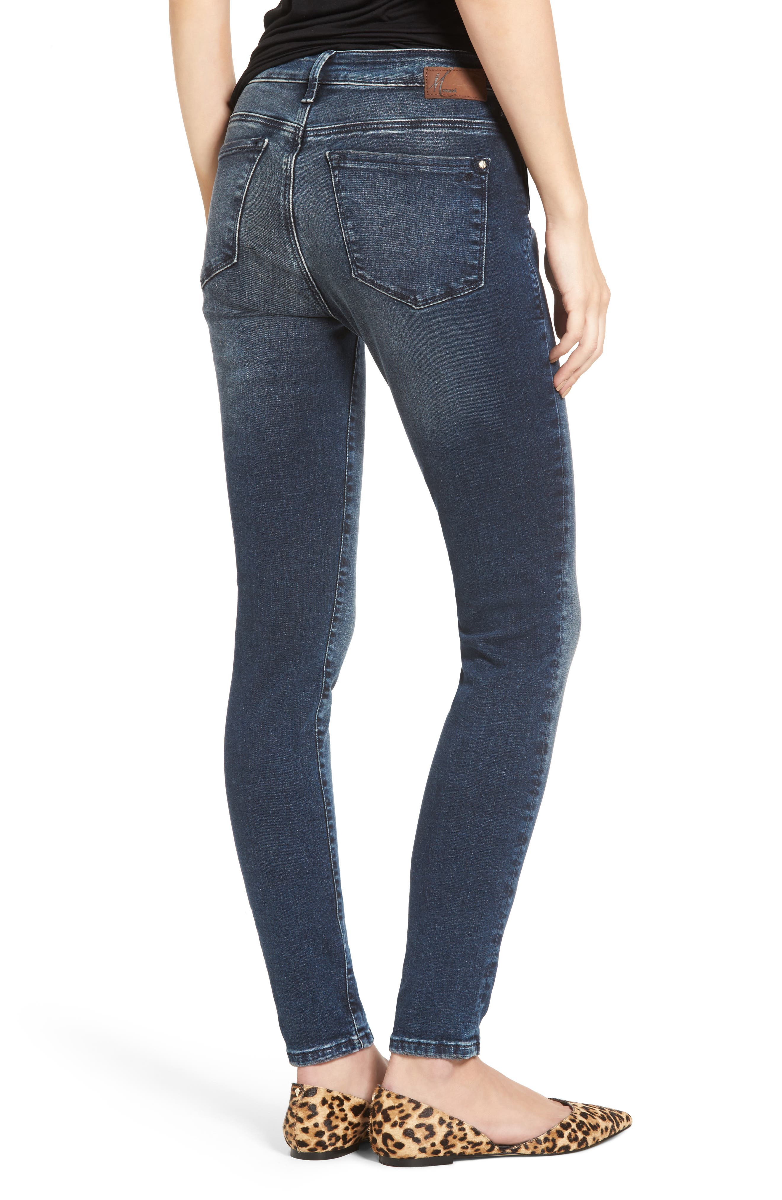 Stretch Slim High Rise Ankle Jeans,                             Alternate thumbnail 2, color,                             Ink Marine Tribeca