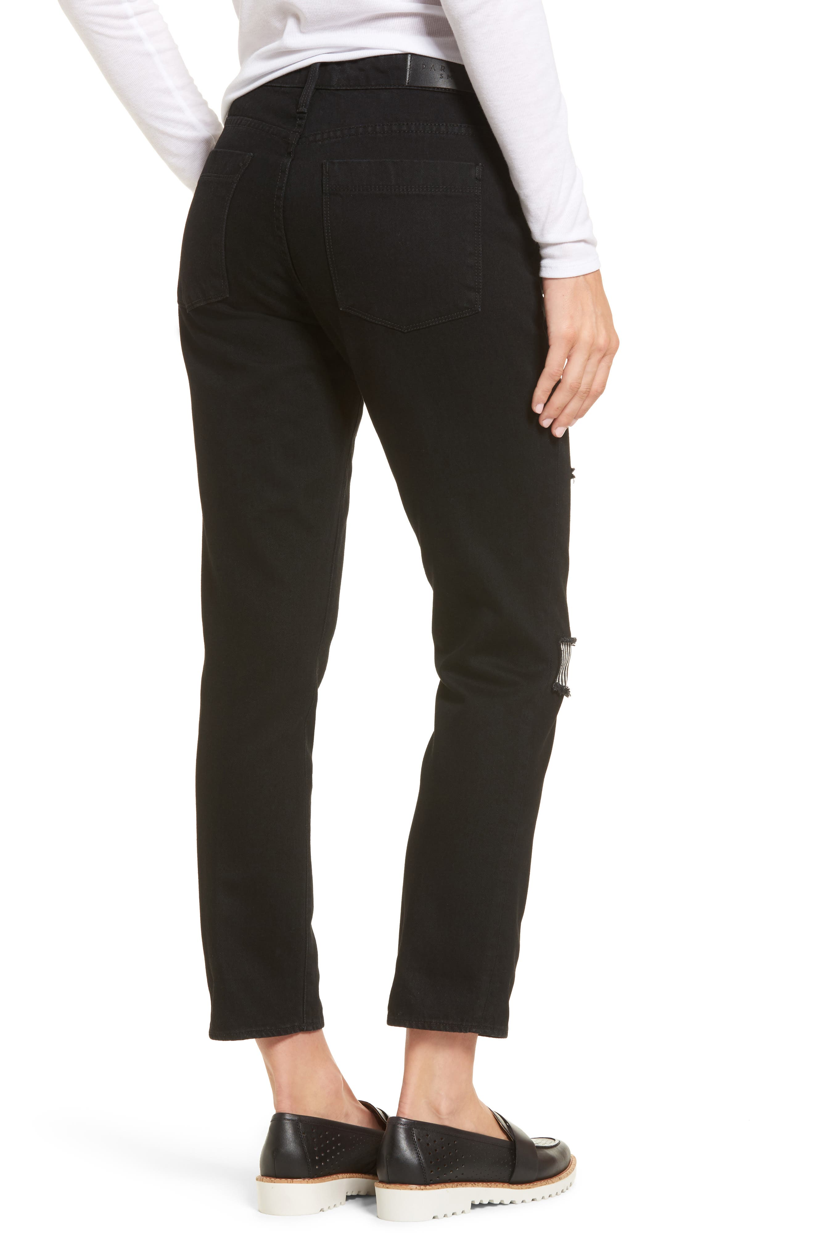 Anti-Fit Ankle Straight Jeans,                             Alternate thumbnail 2, color,                             Black Magic
