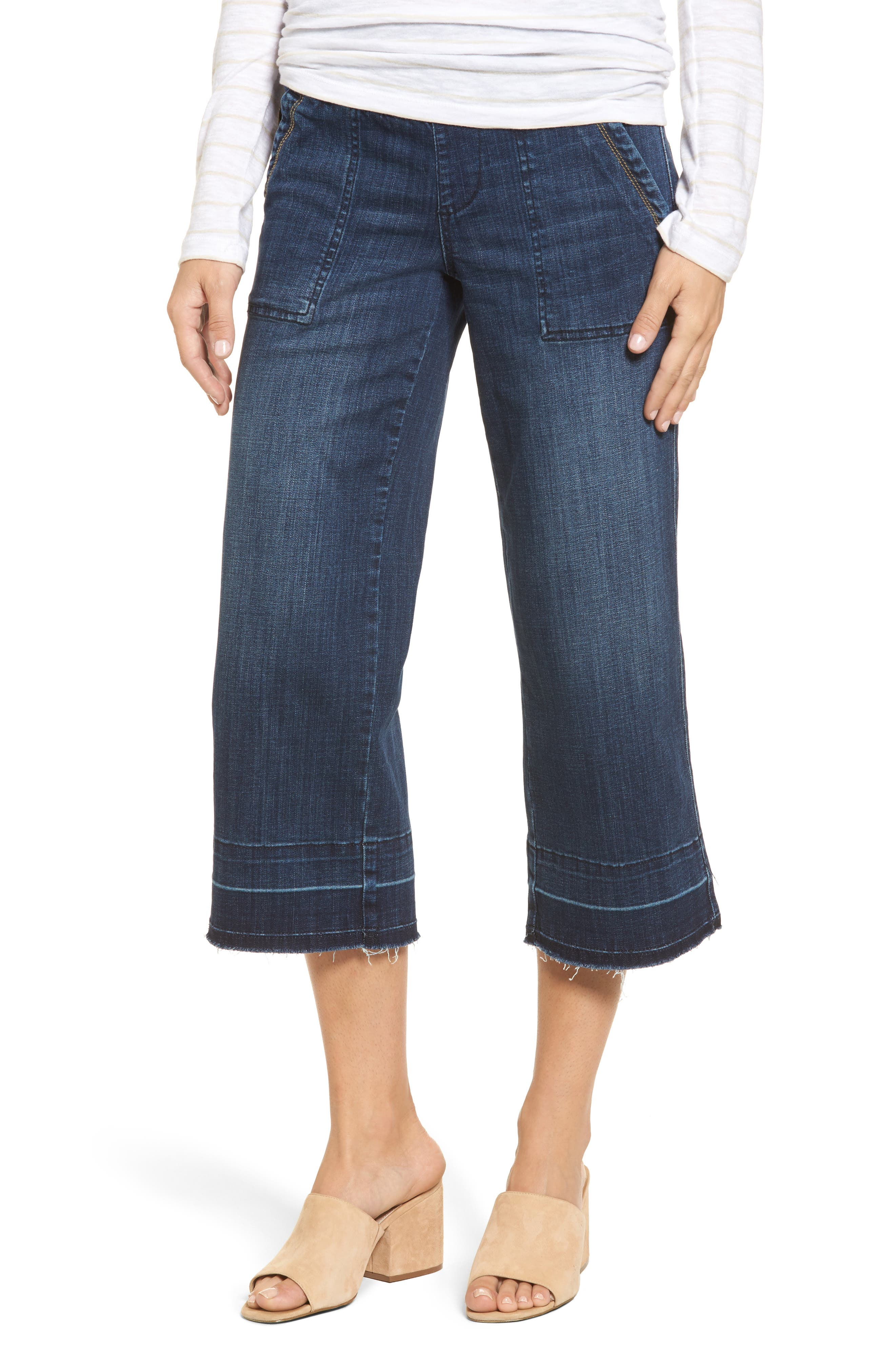 Main Image - Jag Jeans Snyder Pull-On Wide Leg Jeans (Thorne Blue)