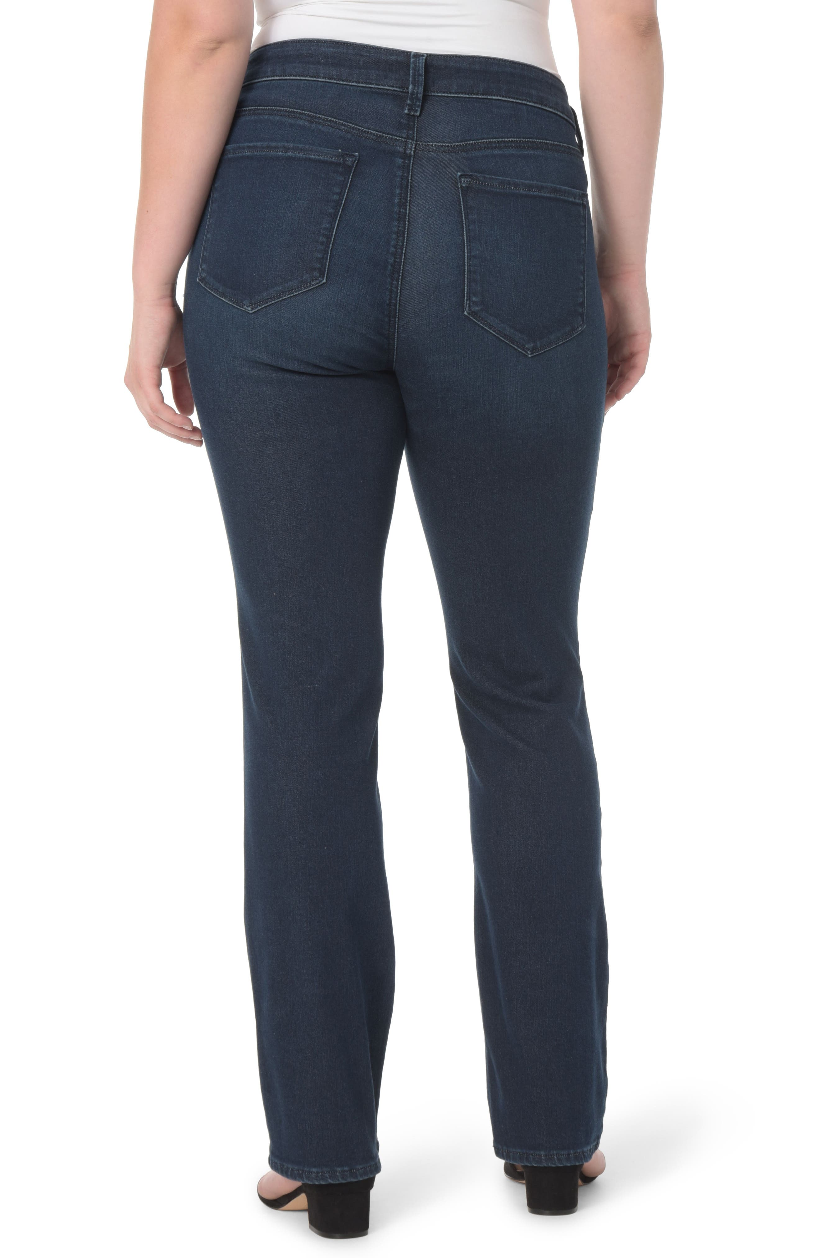 Alternate Image 2  - NYDJ Marilyn Stretch Straight Leg Jeans (Morgan) (Plus Size)