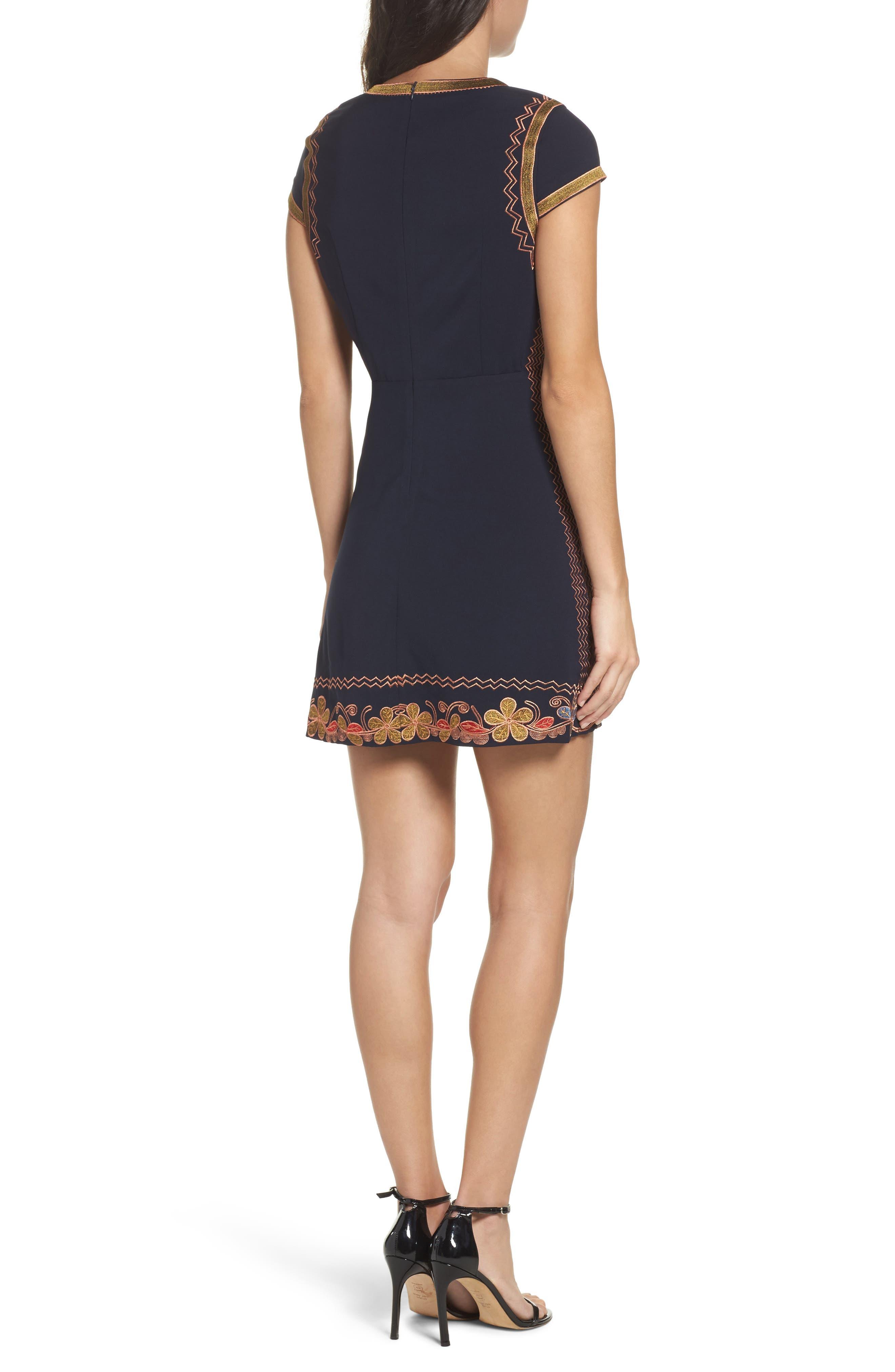 Alternate Image 2  - Foxiedox Hadiya Embroidered A-Line Dress