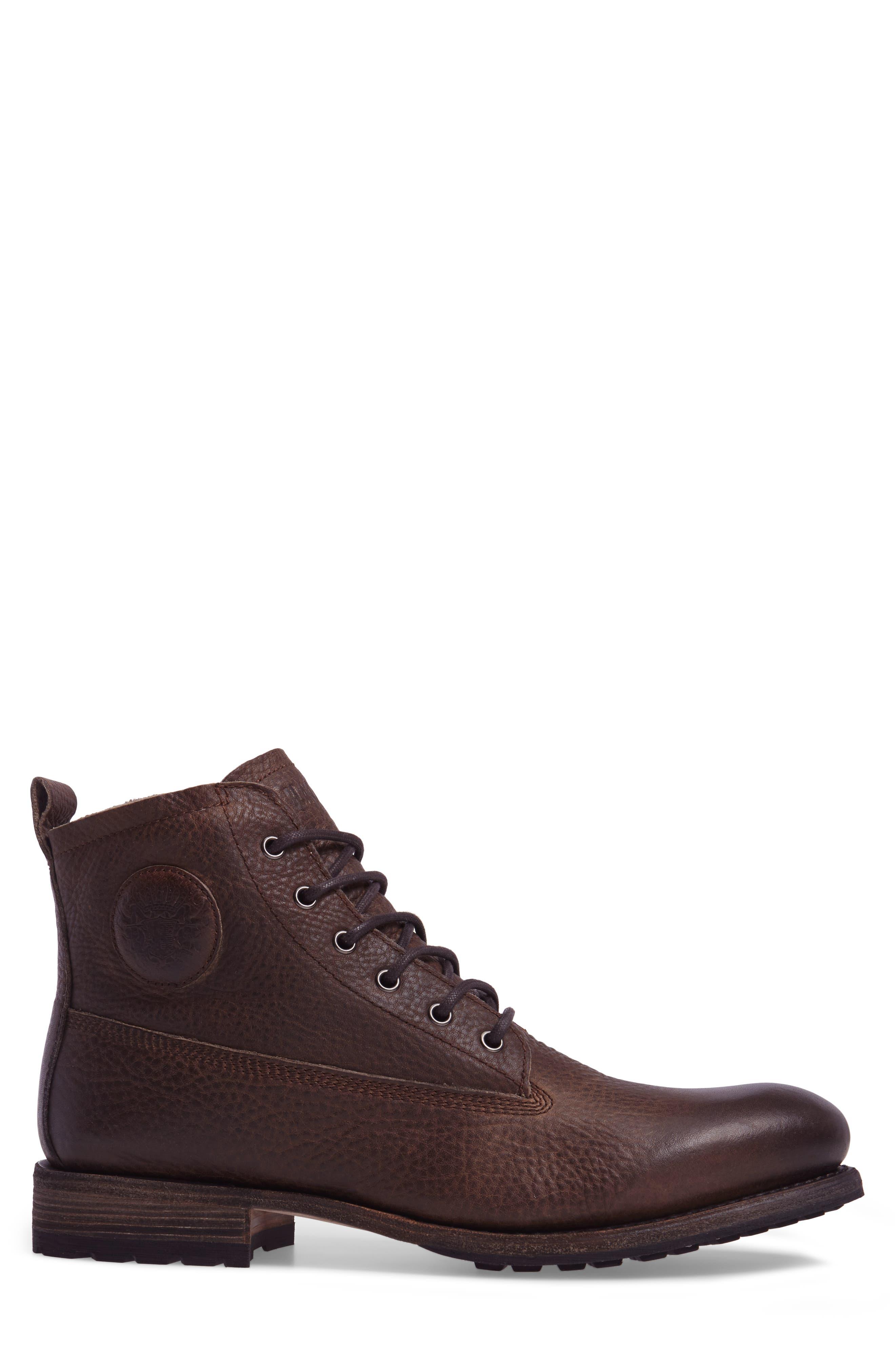 'GM 09' Plain Toe Boot,                             Alternate thumbnail 3, color,                             Gull Leather