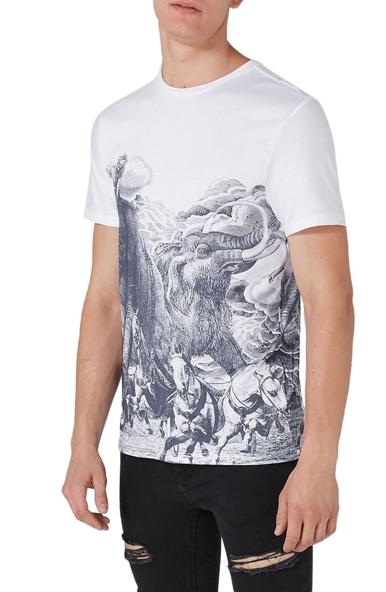 Topman Elephant Print T-Shirt
