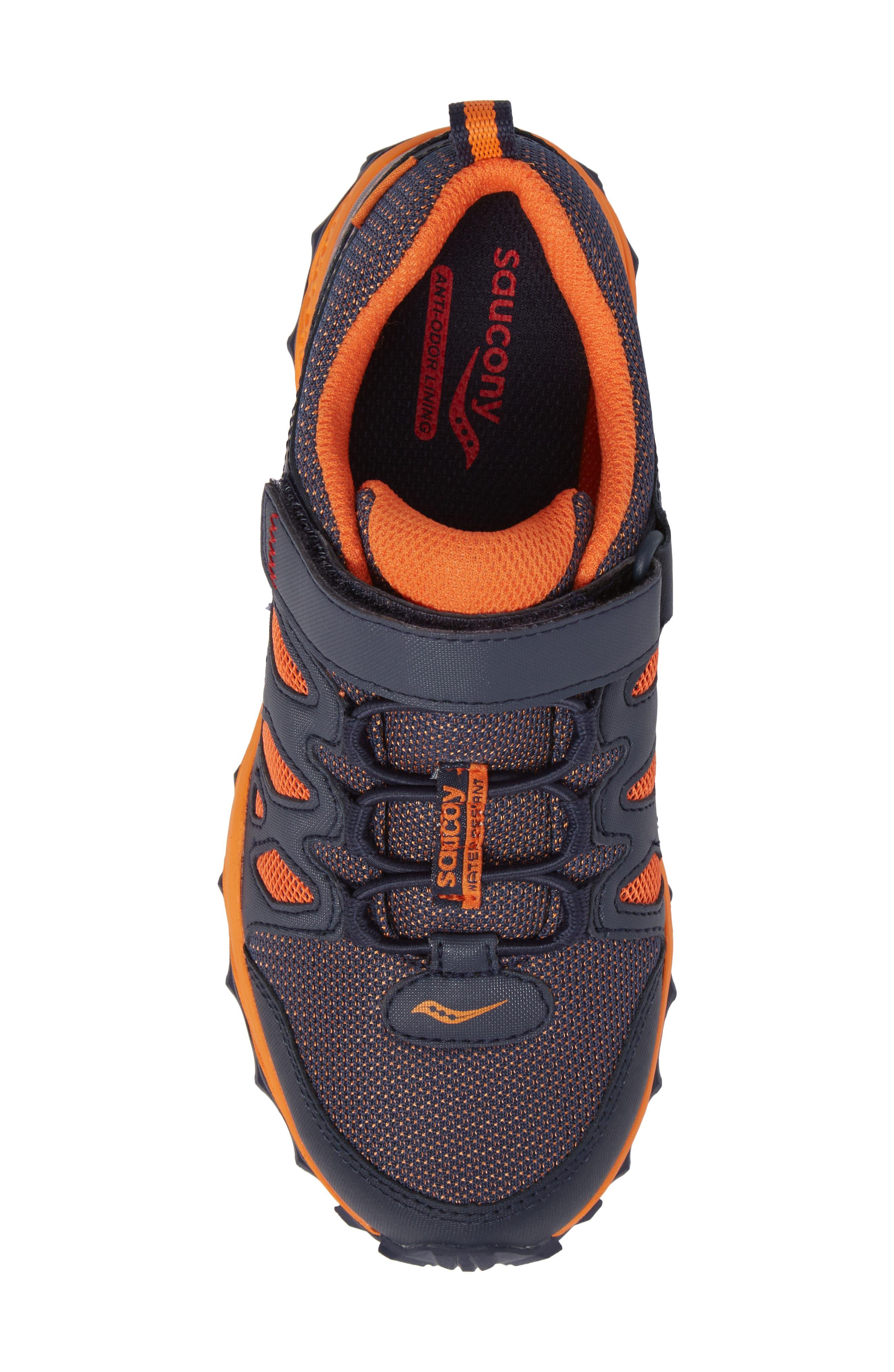 Peregrine Shield Water-Resistant Sneaker,                             Alternate thumbnail 5, color,                             Navy/ Orange
