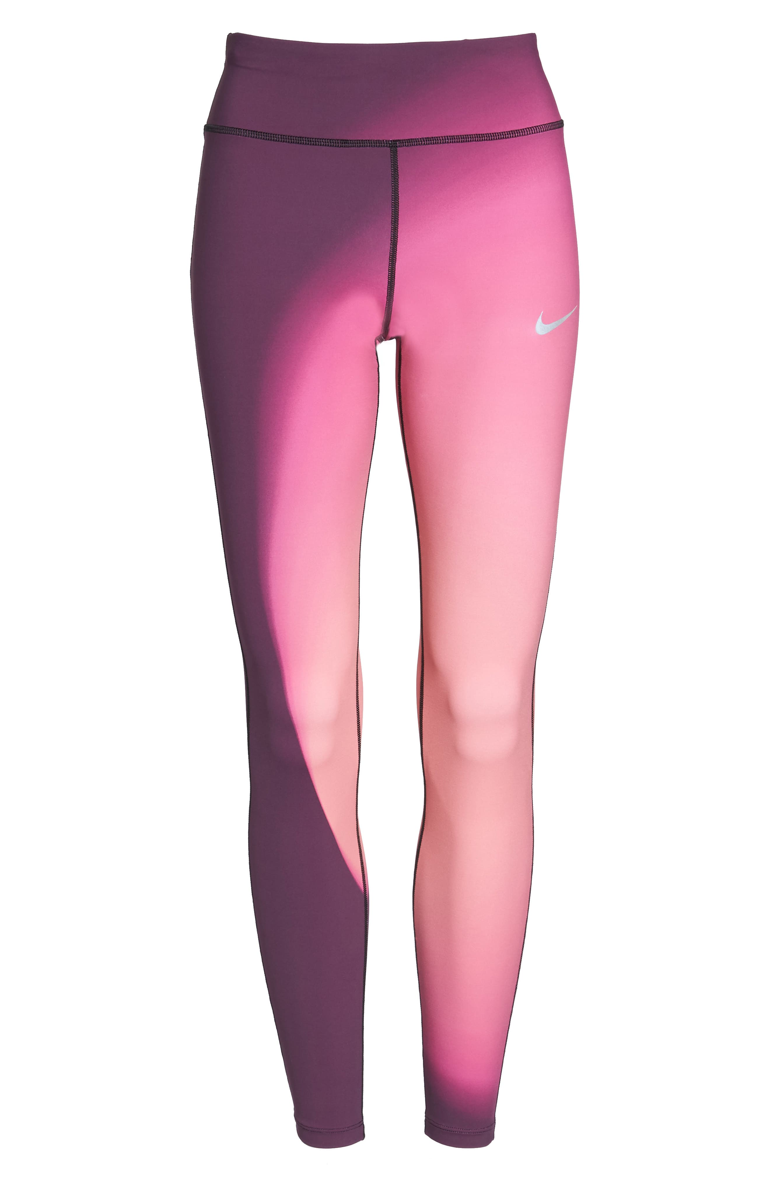 Power Epic Lux 2.0 Running Tights,                             Alternate thumbnail 7, color,                             Bordeaux
