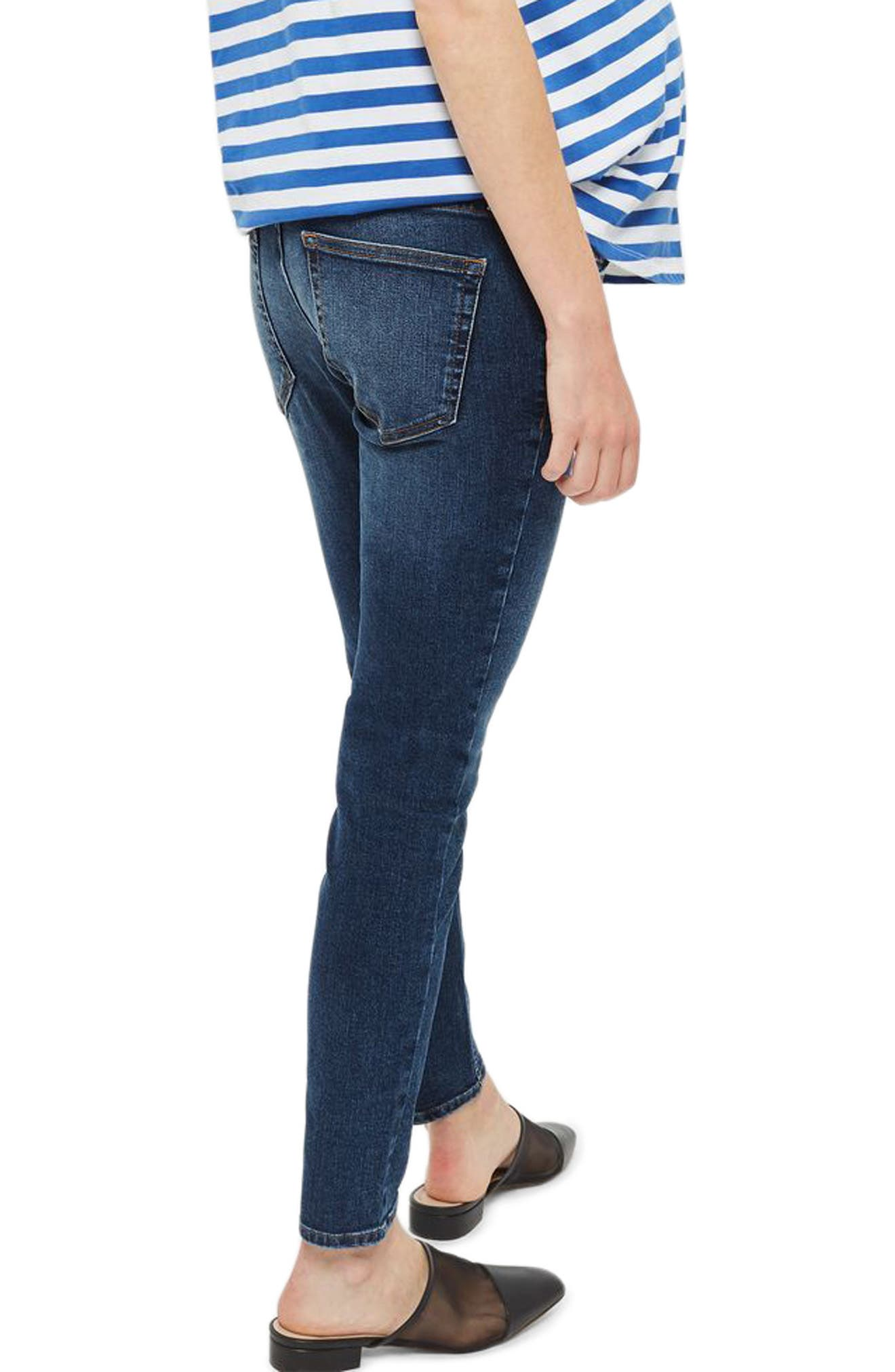 Jamie Over the Bump Maternity Skinny Jeans,                             Alternate thumbnail 2, color,                             Mid Denim