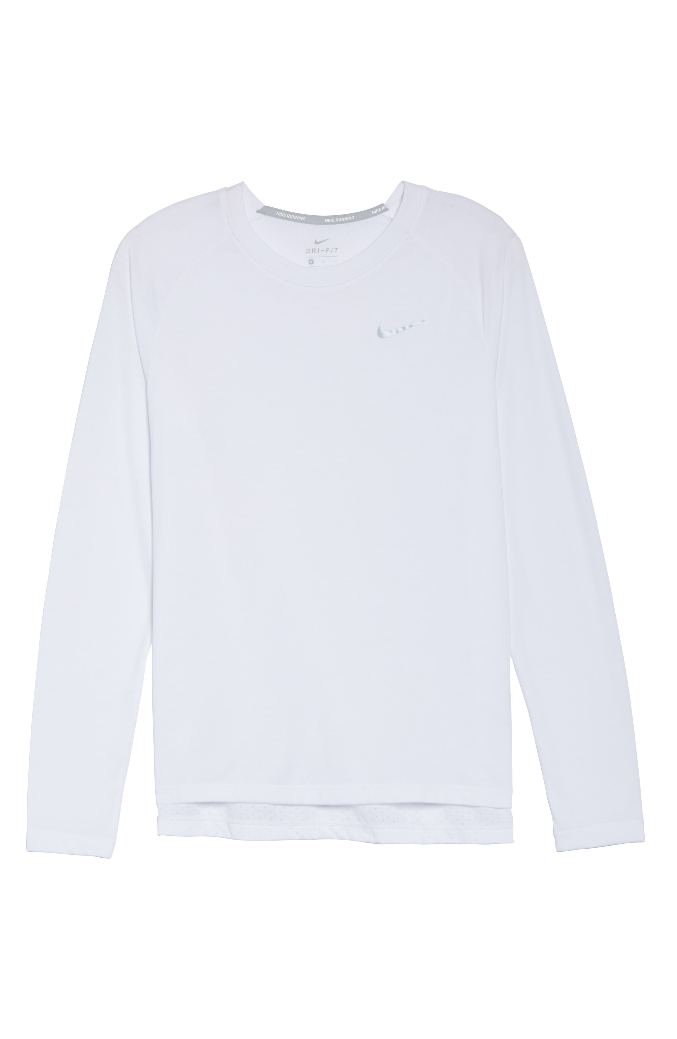 Breathe Tailwind Running Top,                             Alternate thumbnail 7, color,                             White