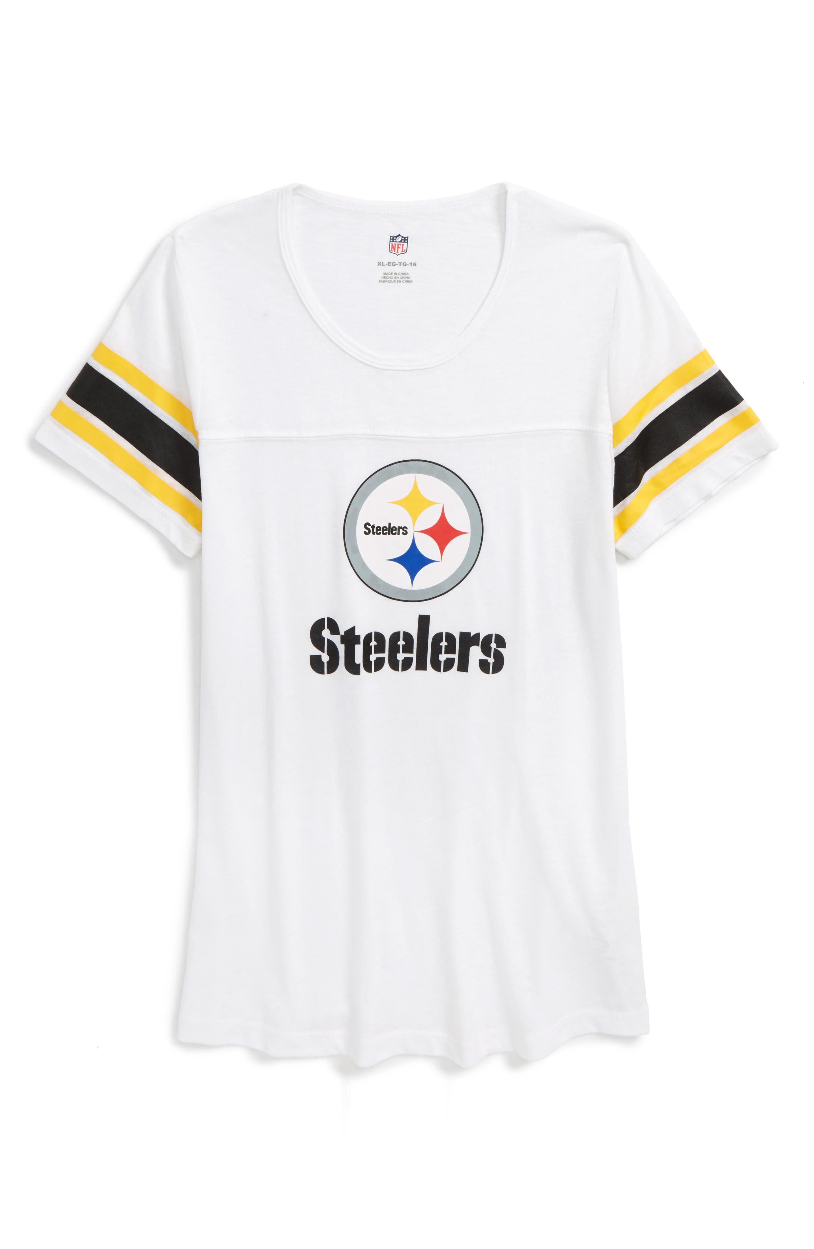 Outerstuff NFL Pittsburgh Steelers Team Pride Tee (Big Girls)