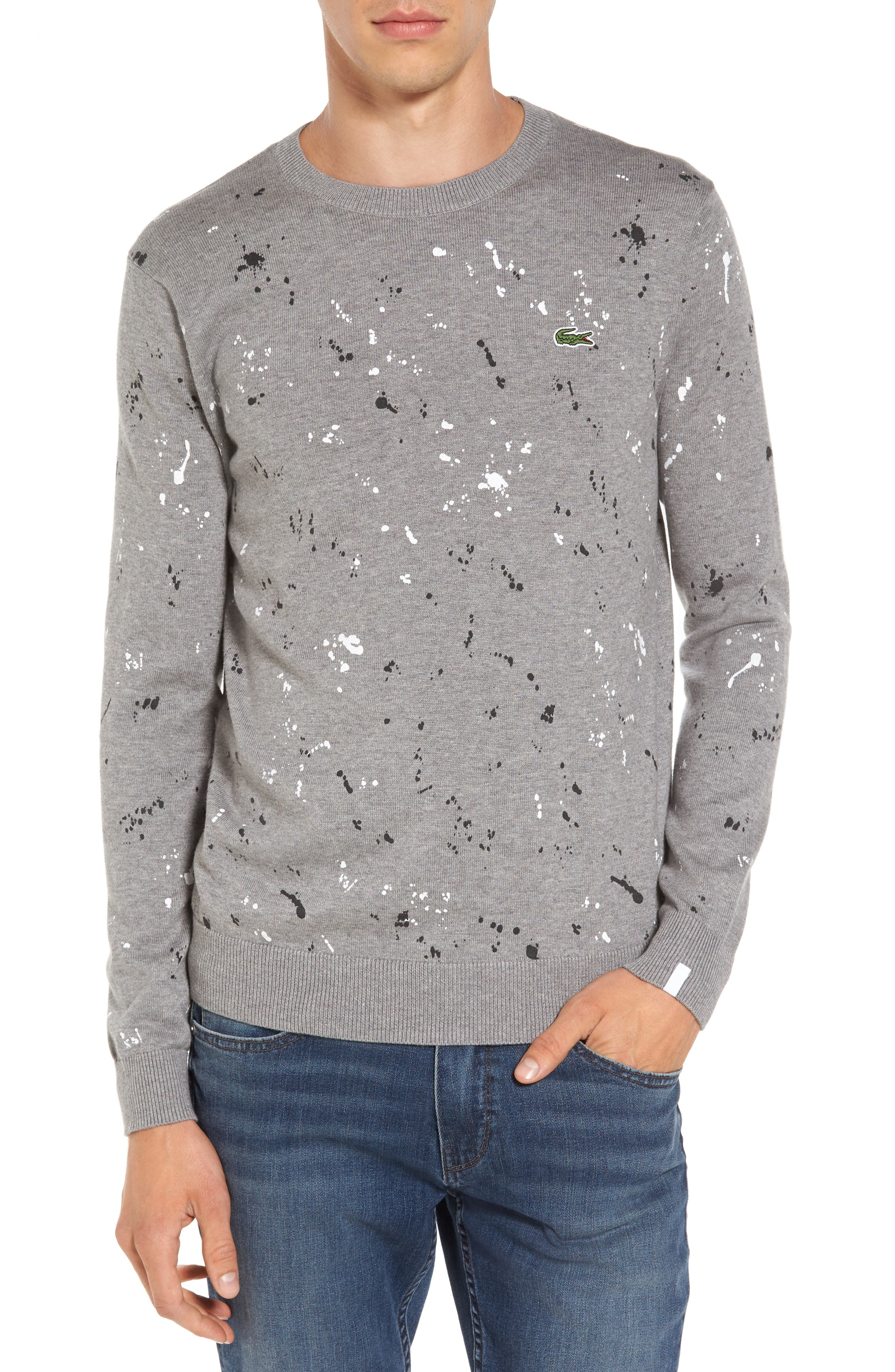 Splatter Sweater,                         Main,                         color, Sru Palladium Mouline