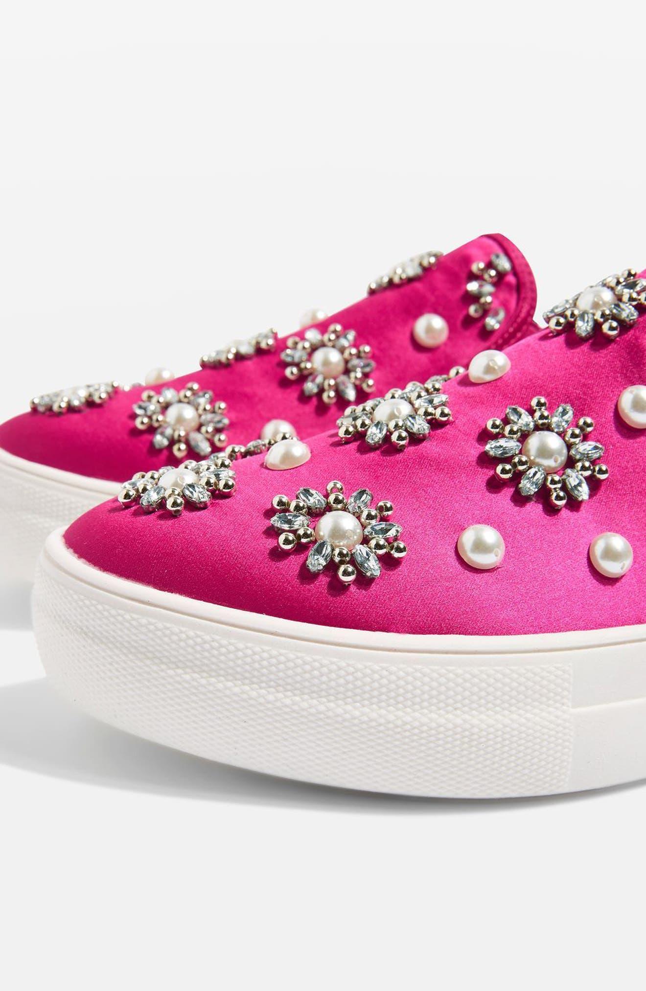 Tilt Embellished Slip-On Sneaker,                             Alternate thumbnail 7, color,                             Pink Multi