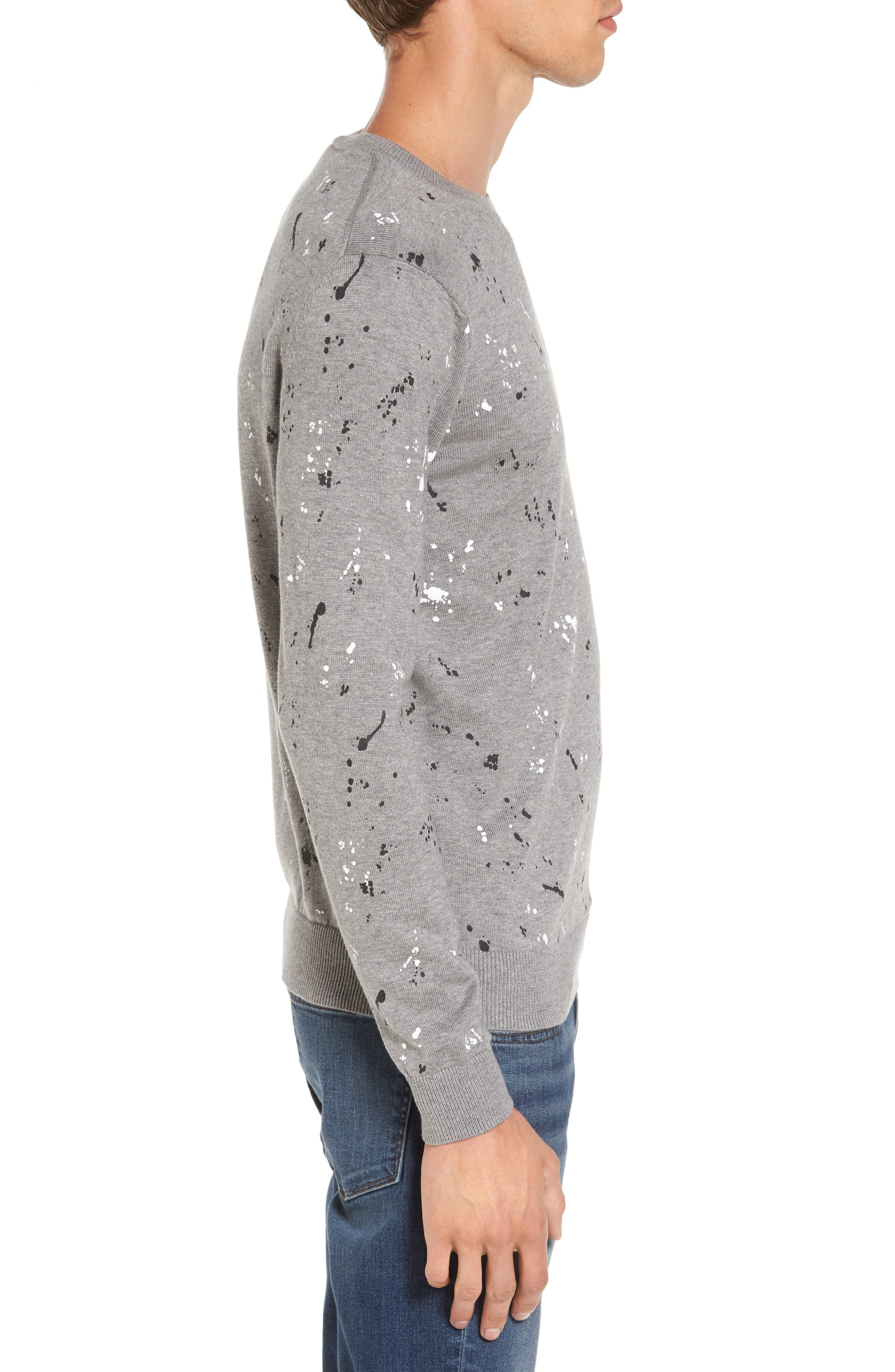 Splatter Sweater,                             Alternate thumbnail 3, color,                             Sru Palladium Mouline