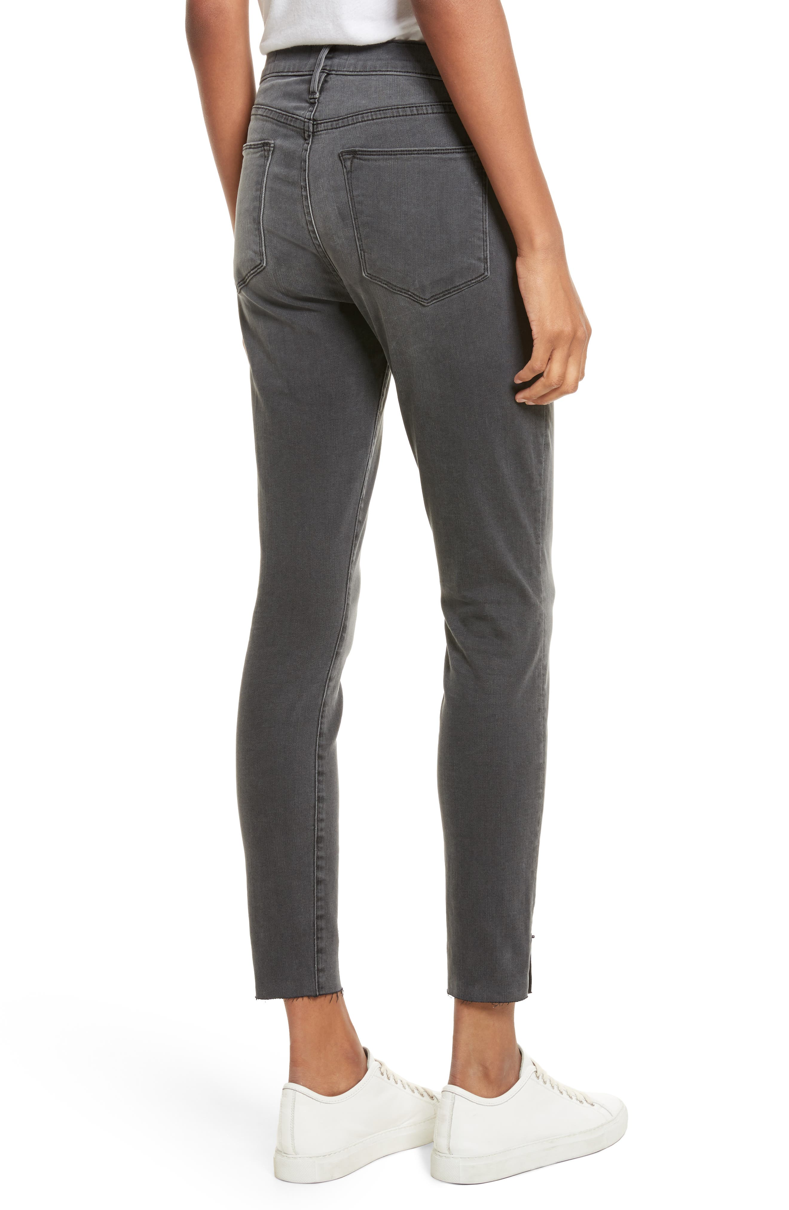 Le High Ankle Skinny Jeans,                             Alternate thumbnail 2, color,                             Dartmouth Exclusive
